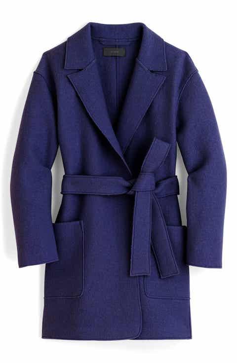 Women's Blue Wool Coats & Jackets | Nordstrom