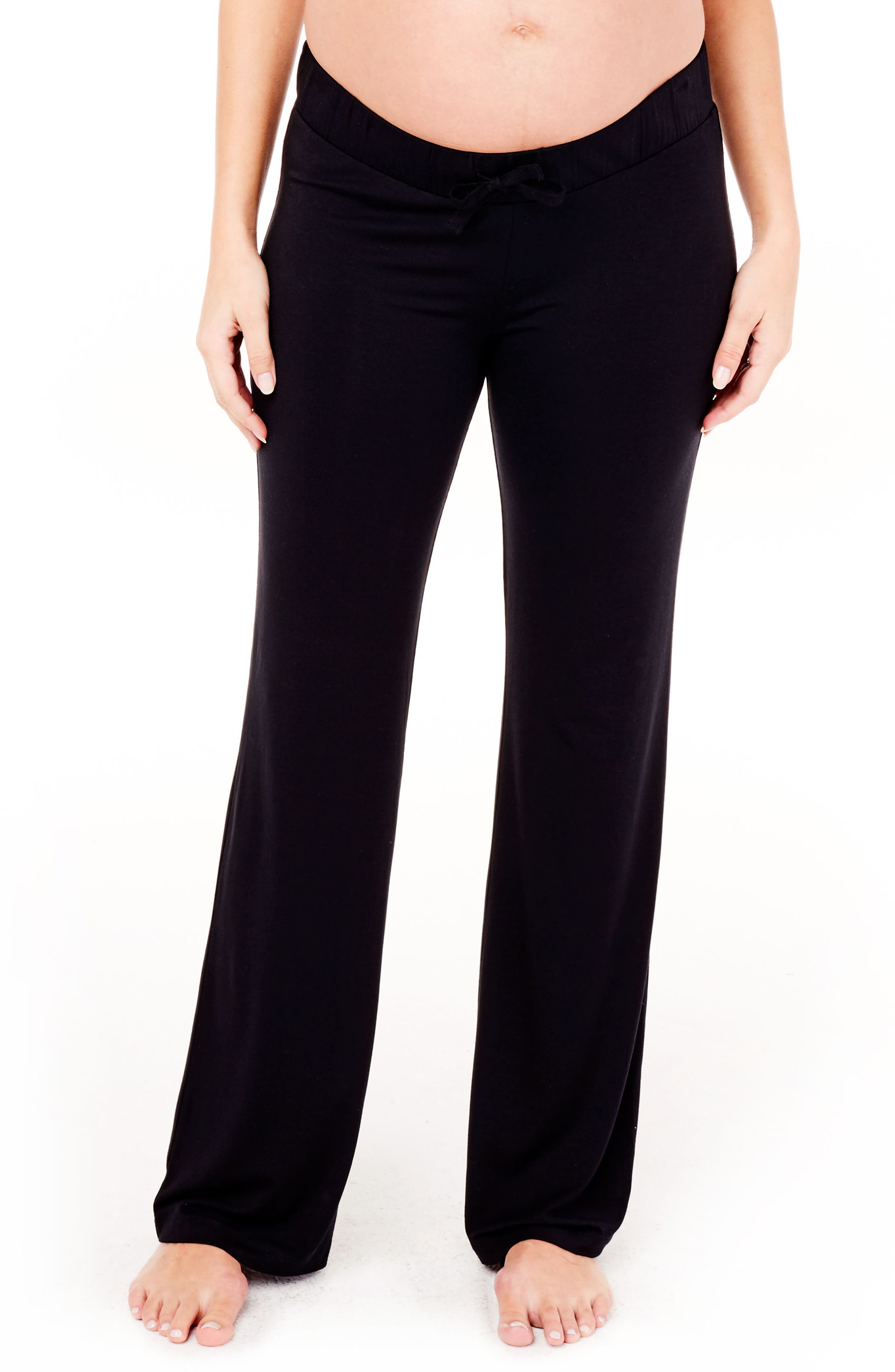 Maternity Lounge Pants,                         Main,                         color, Jet Black