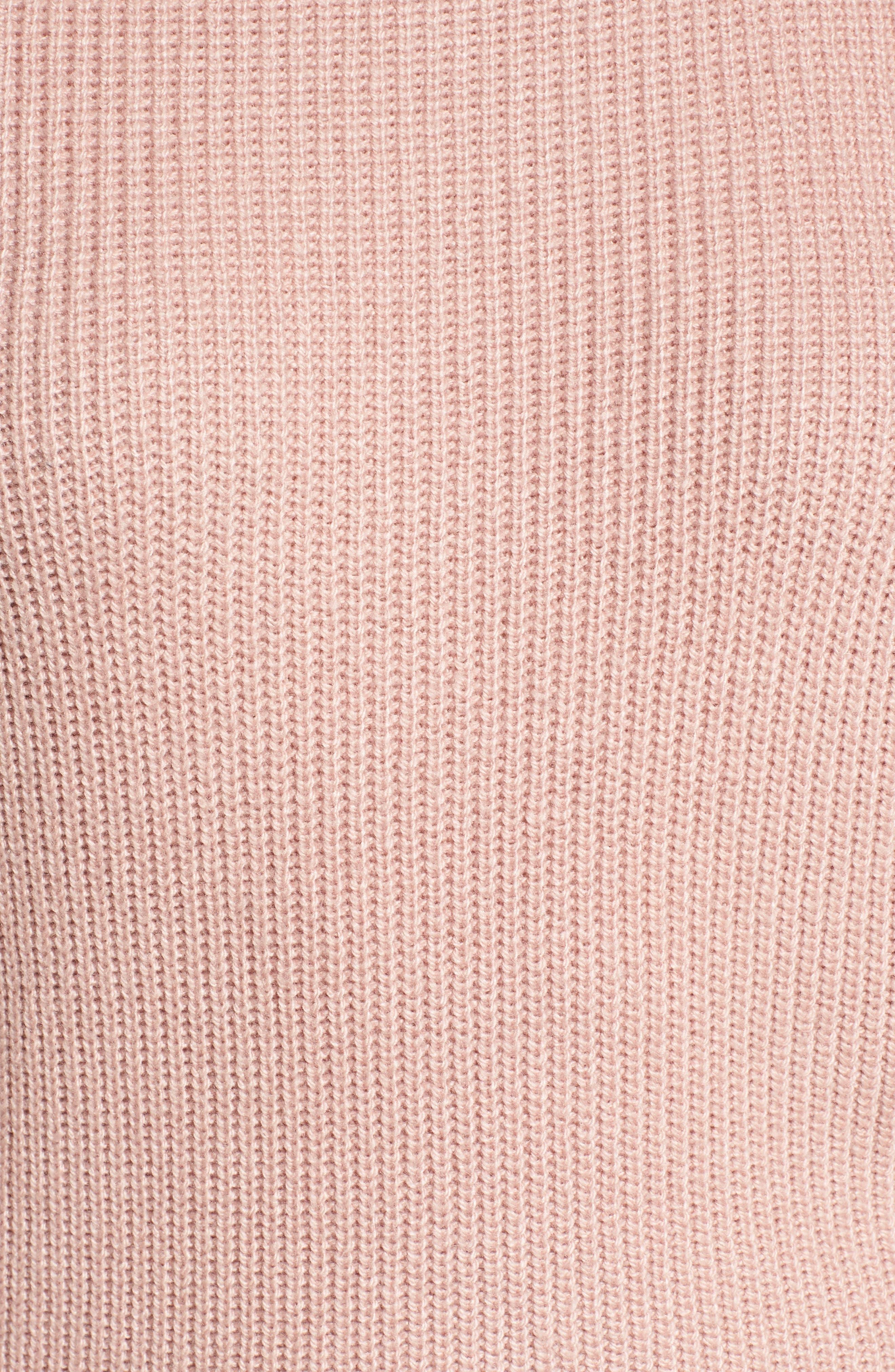 Puff Sleeve Sweatser,                             Alternate thumbnail 5, color,                             Pink Adobe