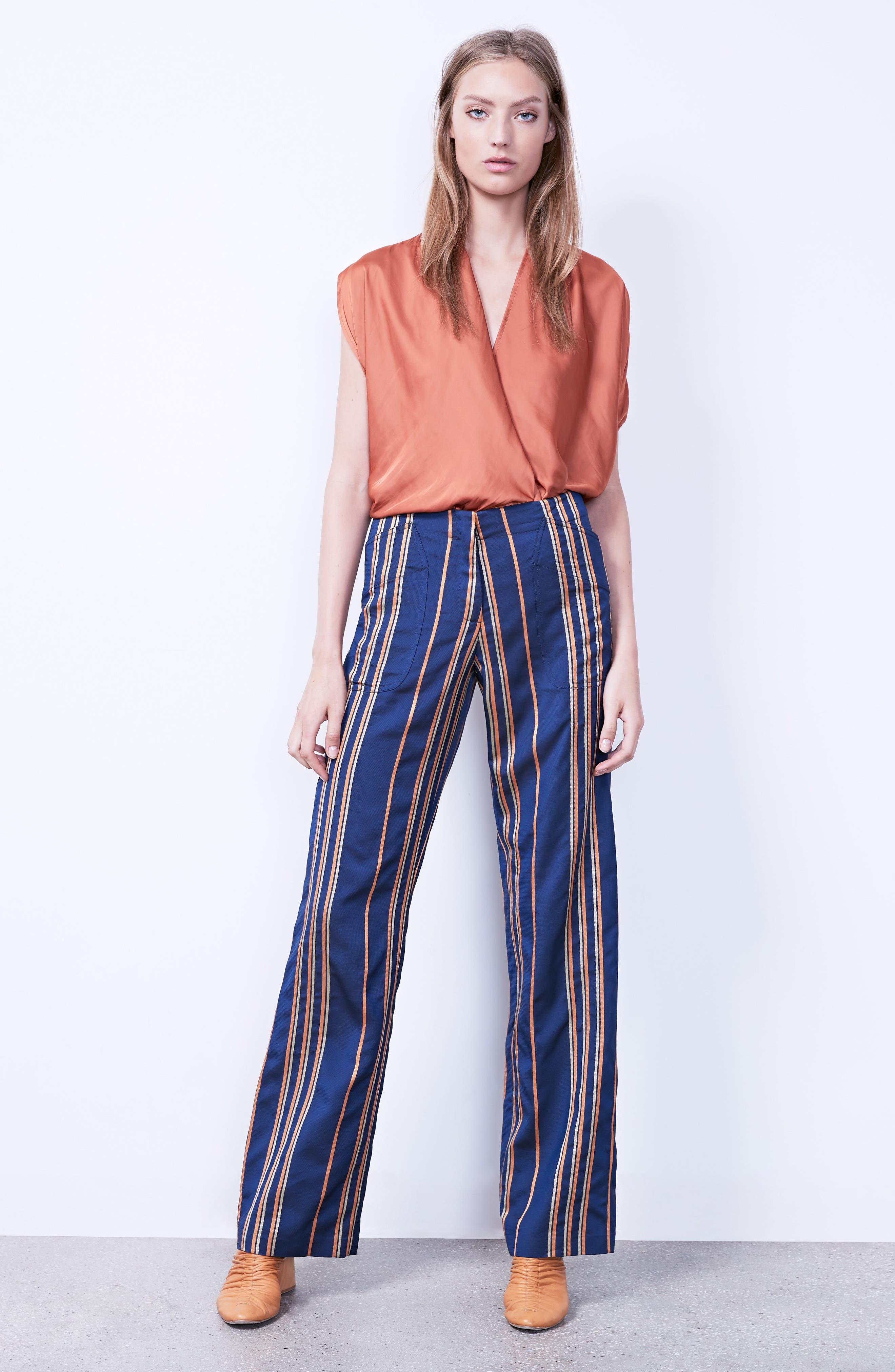 Stripe Pants,                             Alternate thumbnail 2, color,                             Mykonos/Papaya