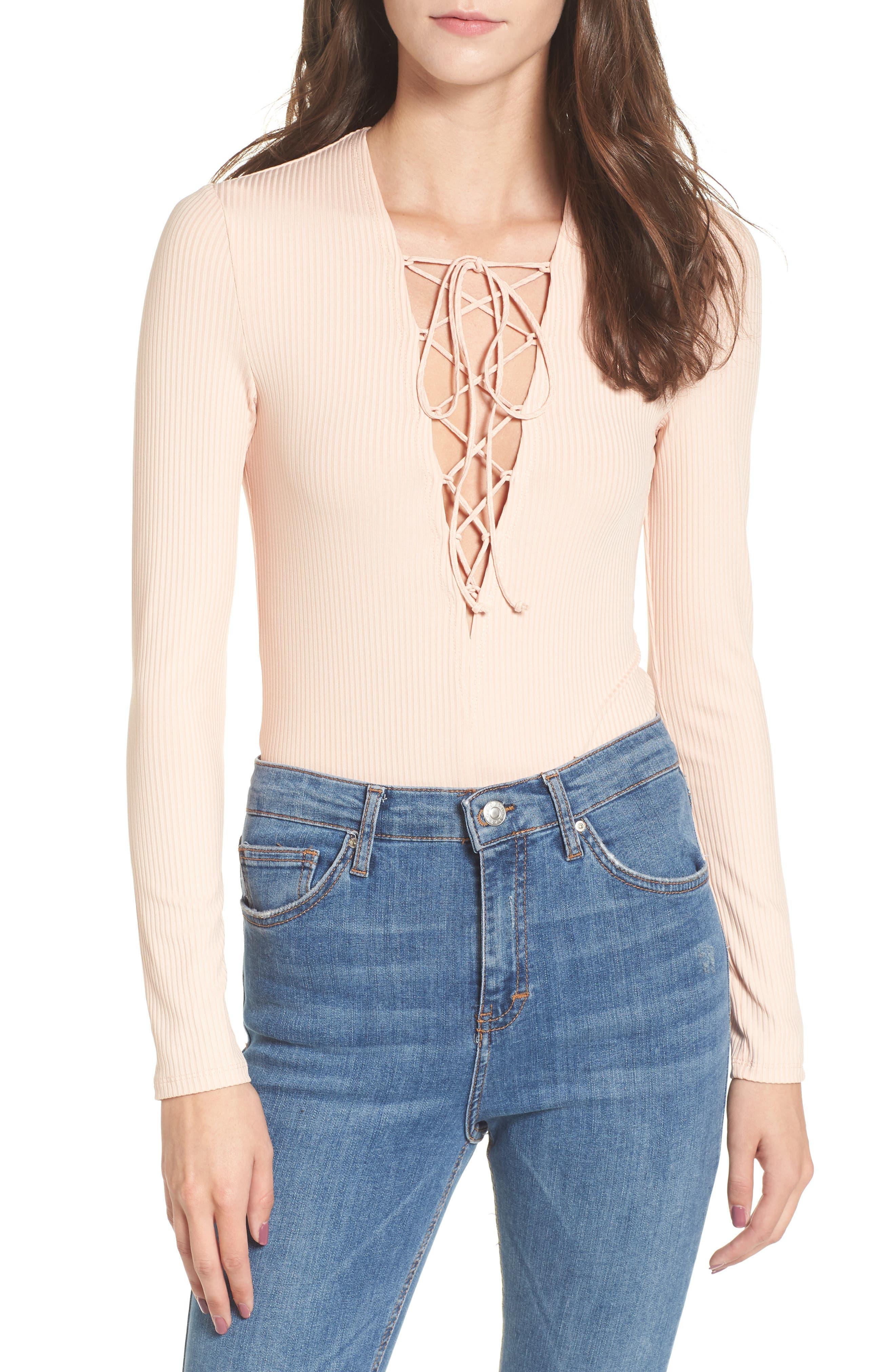 Love, Fire Lace-Up Bodysuit