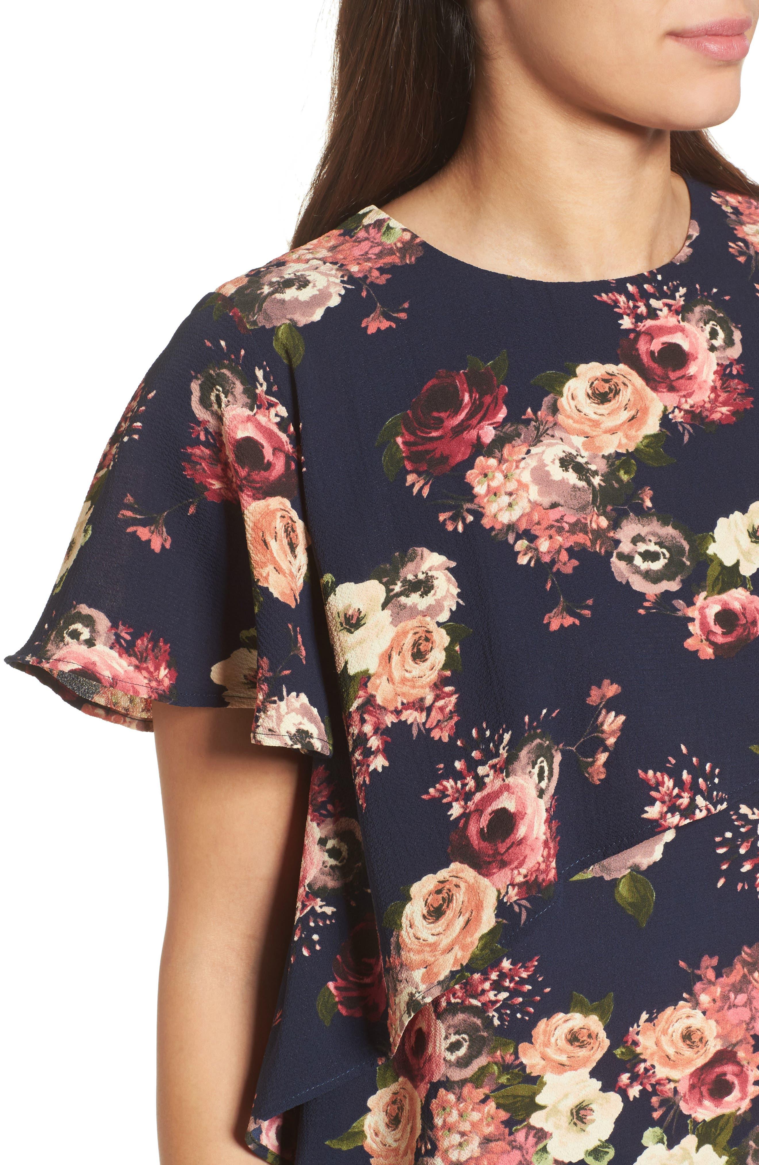 Alternate Image 4  - Halogen® Layered Floral Top