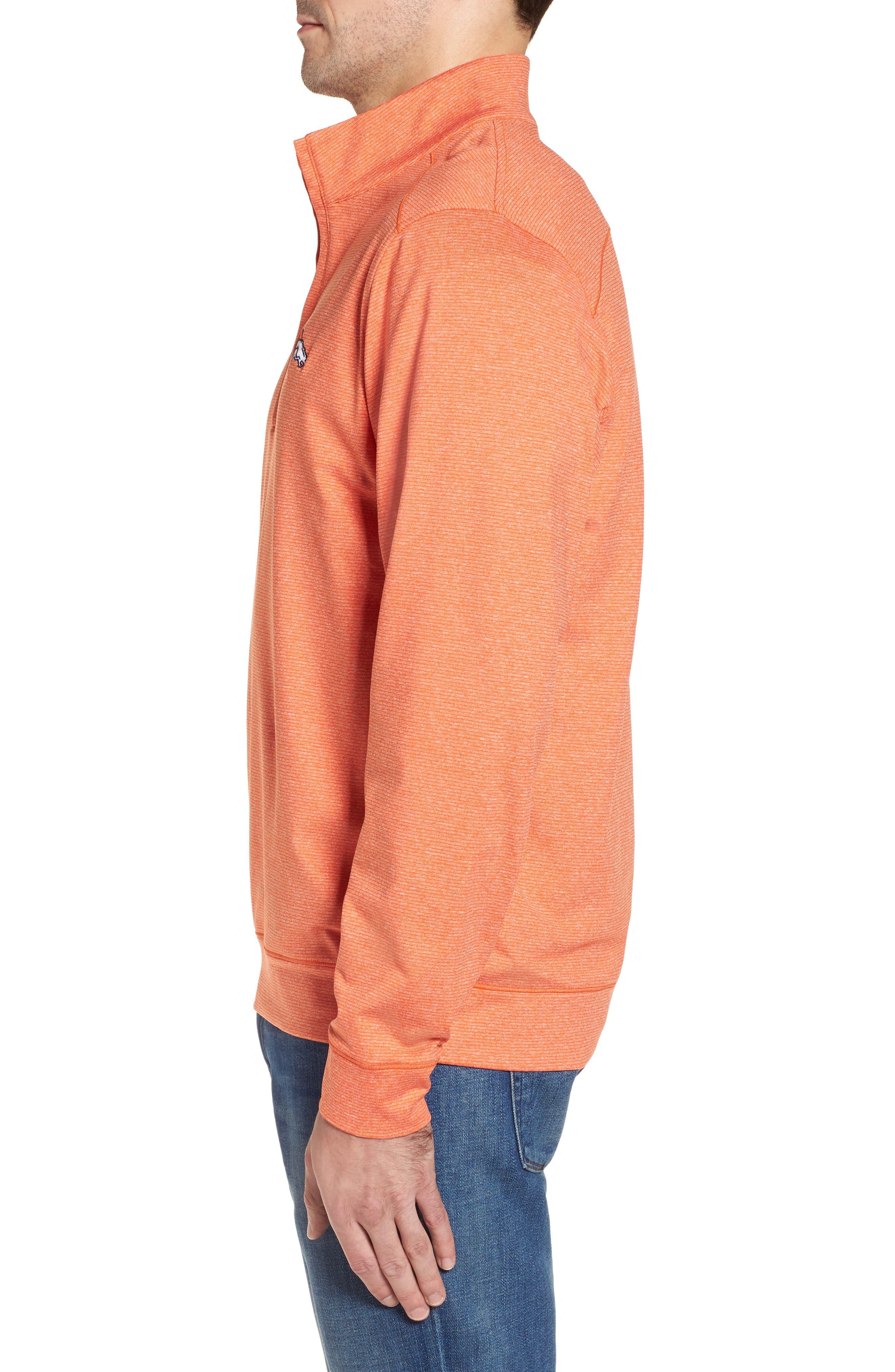 Shoreline - Denver Broncos Half Zip Pullover,                             Alternate thumbnail 3, color,                             College Orange Heather