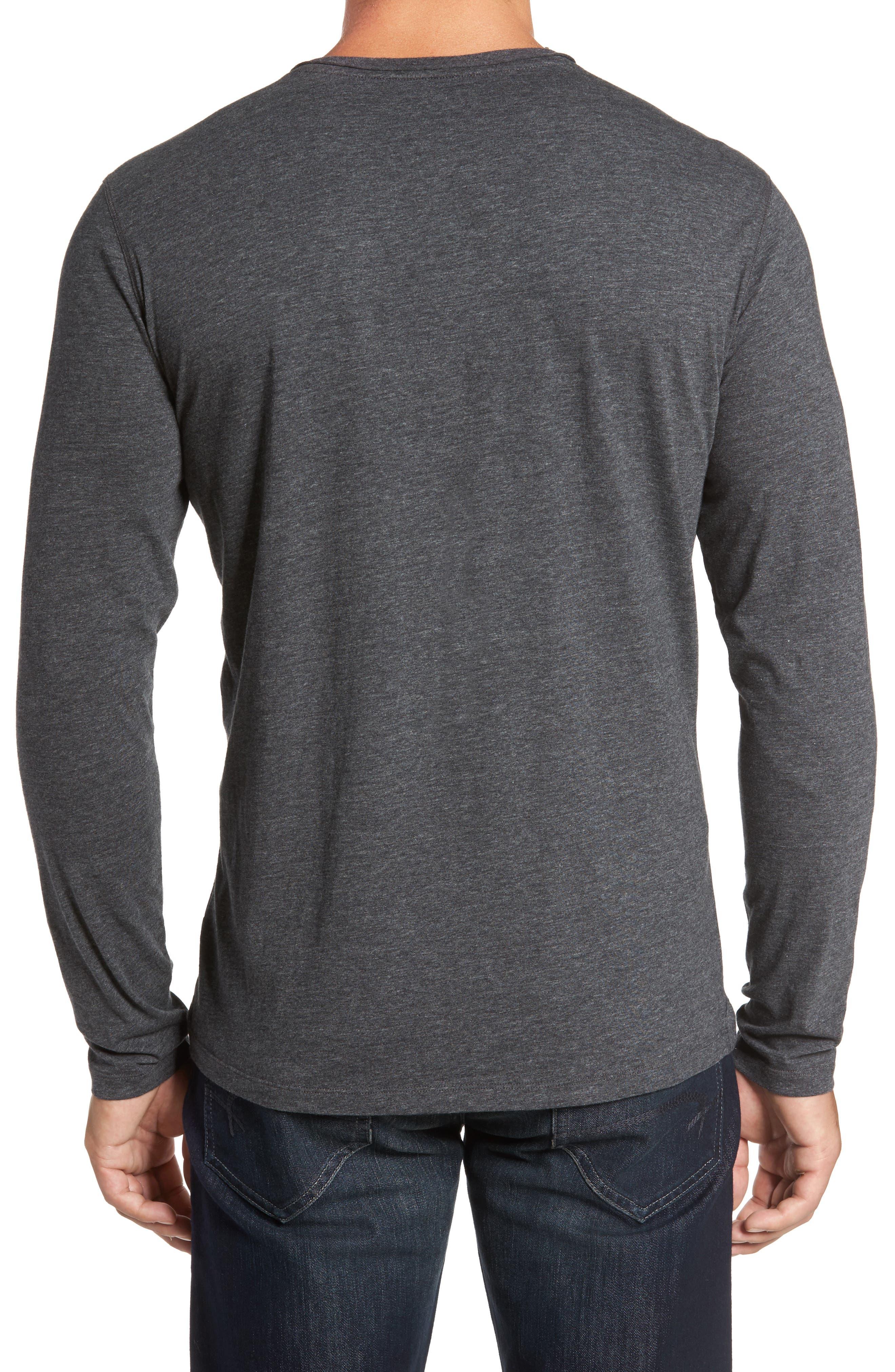 Flynn V-Neck T-Shirt,                             Alternate thumbnail 2, color,                             Charcoal