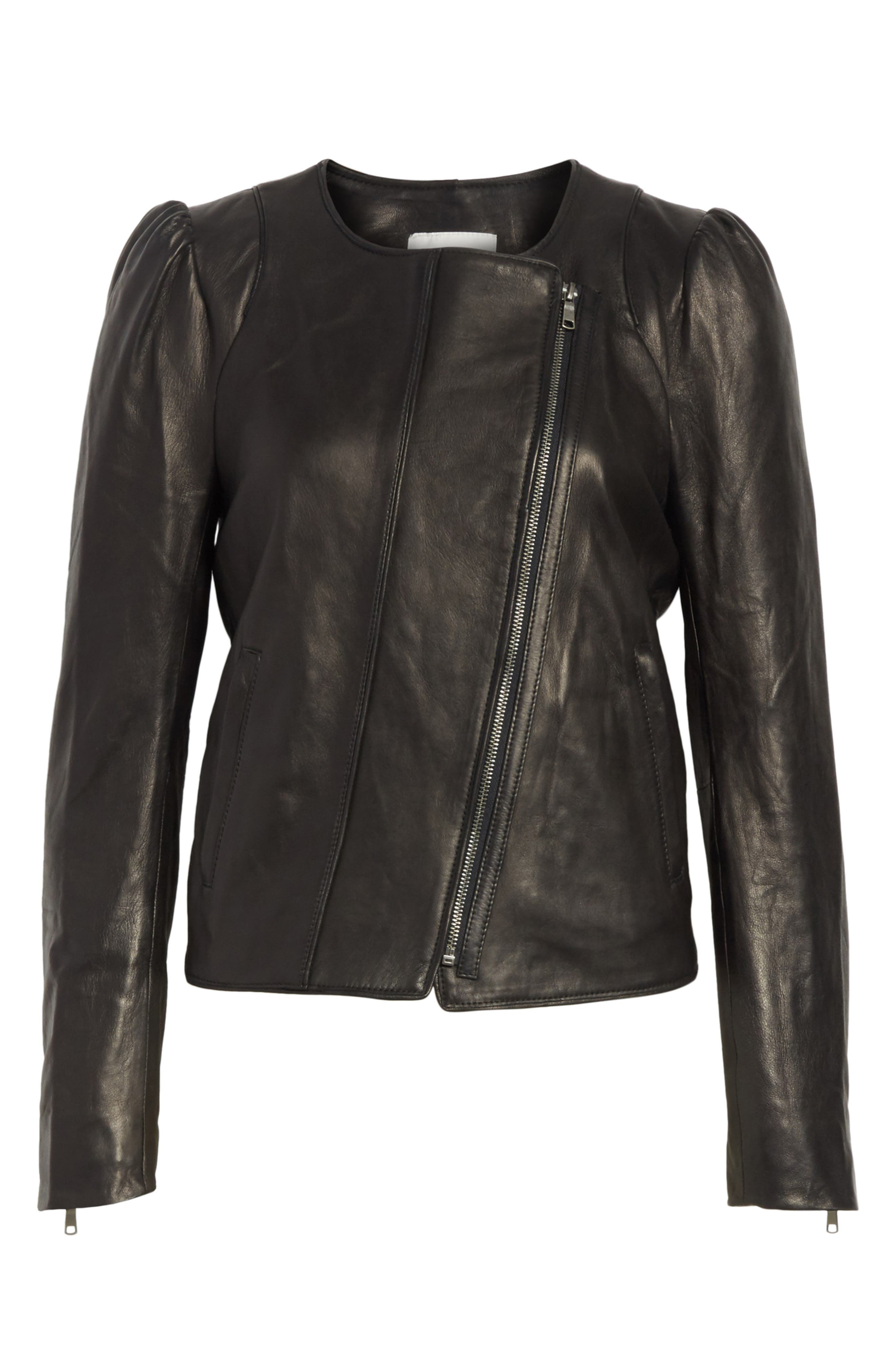 Alternate Image 6  - Derica Leather Jacket