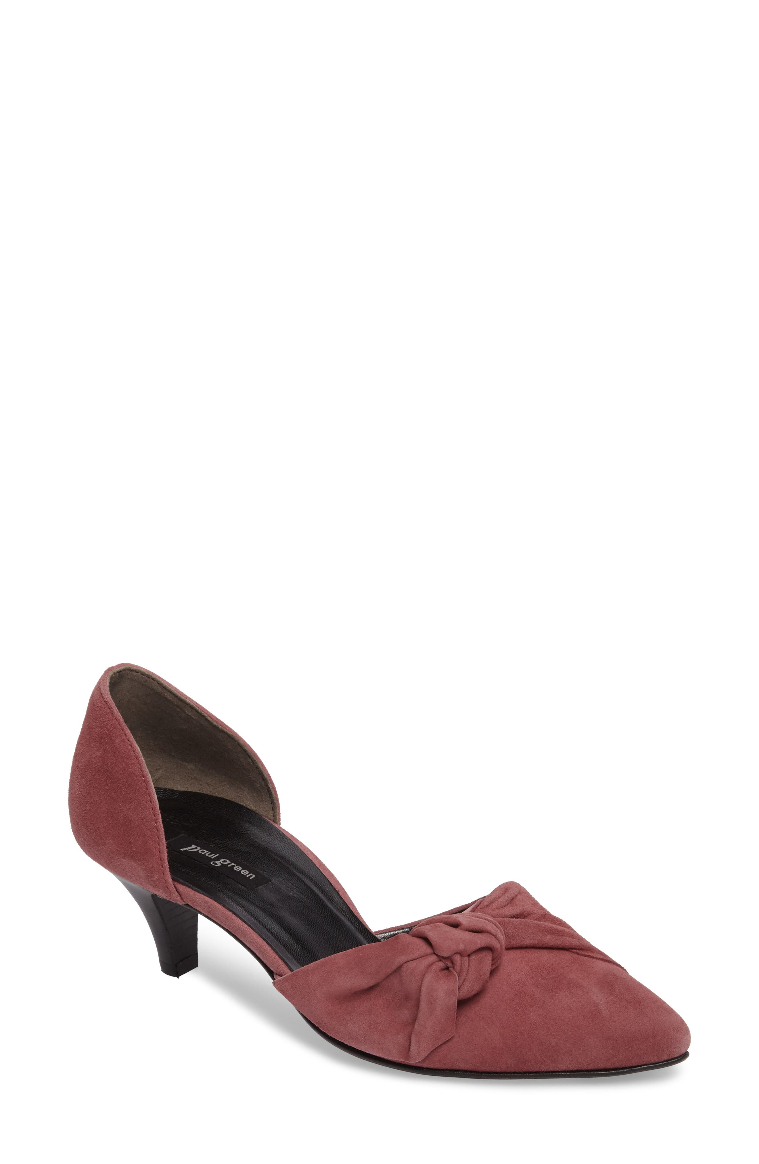 Nuriah d'Orsay Pump,                             Main thumbnail 1, color,                             Old Rose Suede