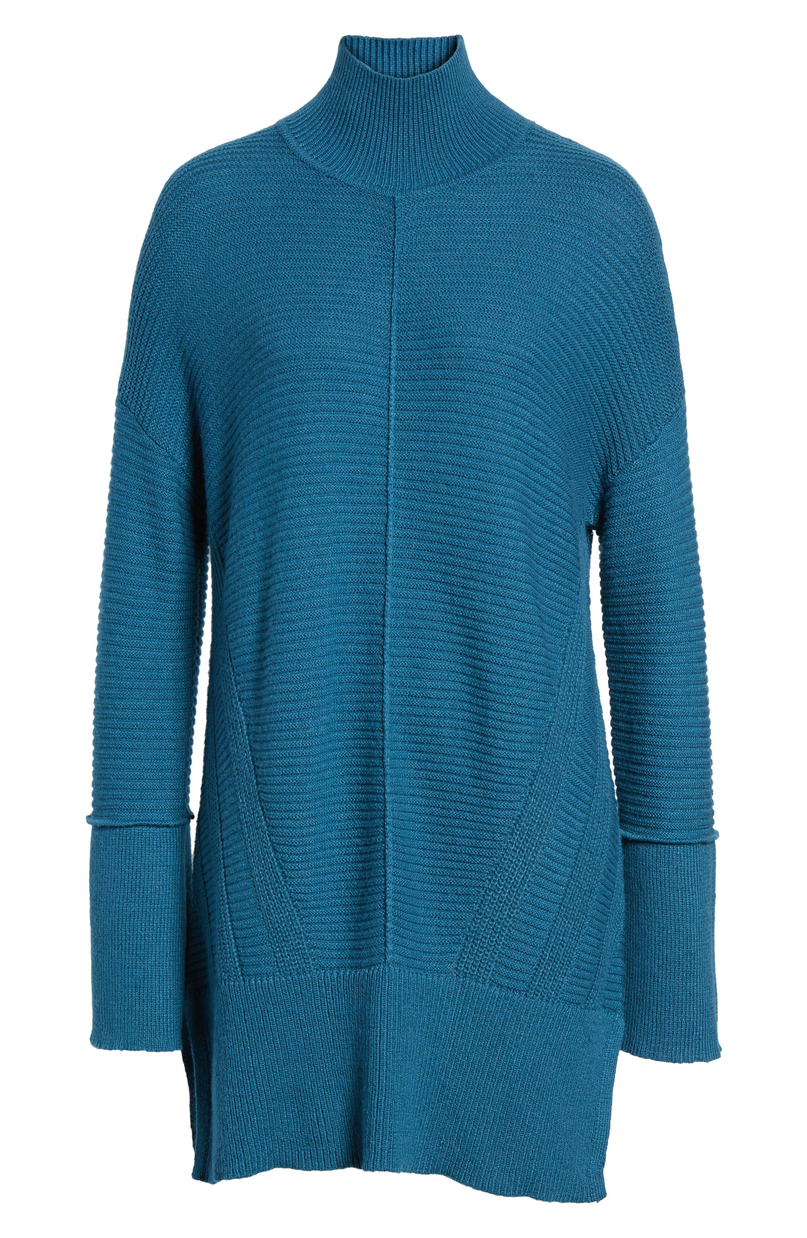 Alternate Image 6  - Caslon® Ribbed Turtleneck Tunic Sweater