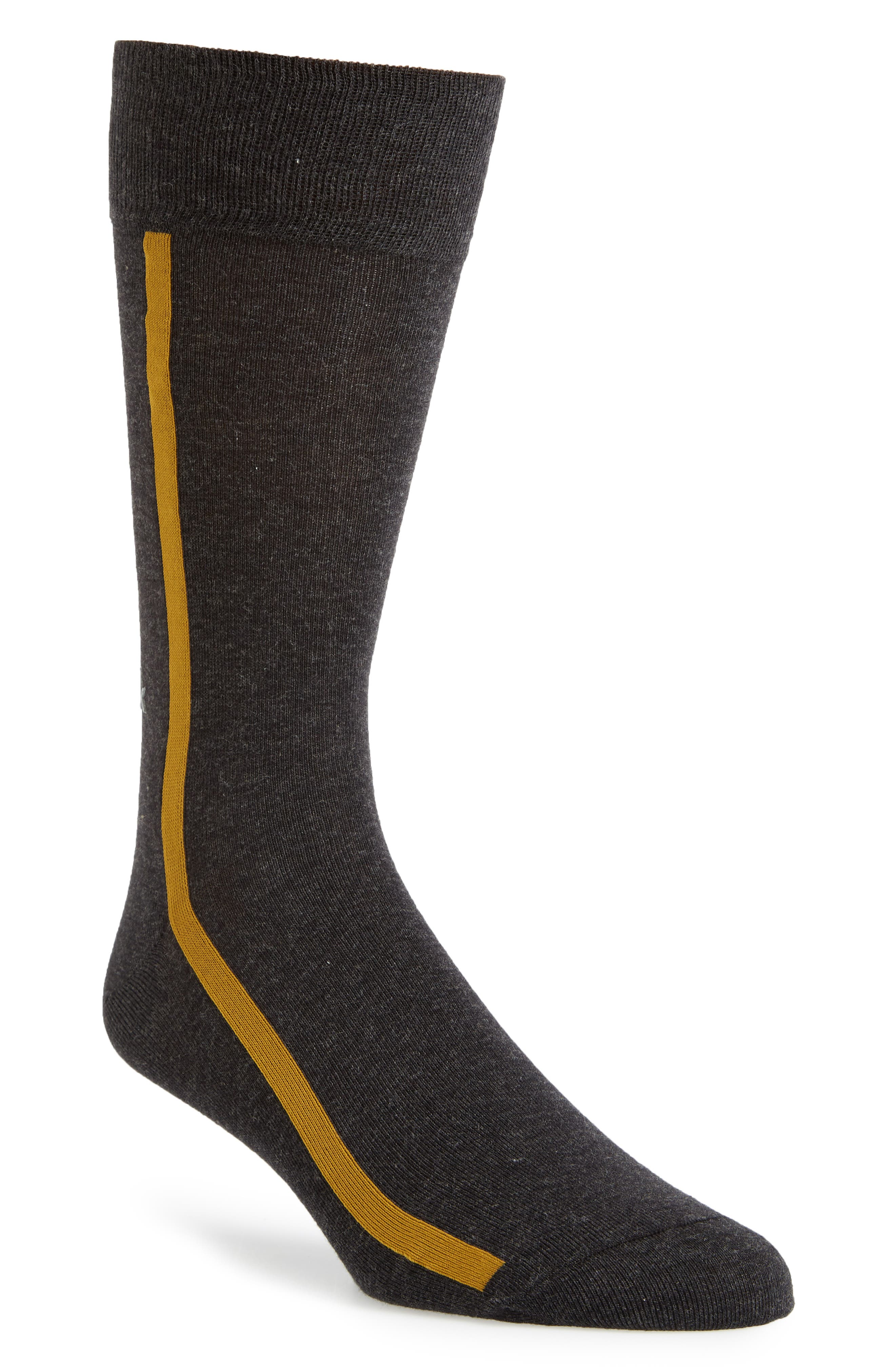 Stripe Socks,                         Main,                         color, Graphite Heather