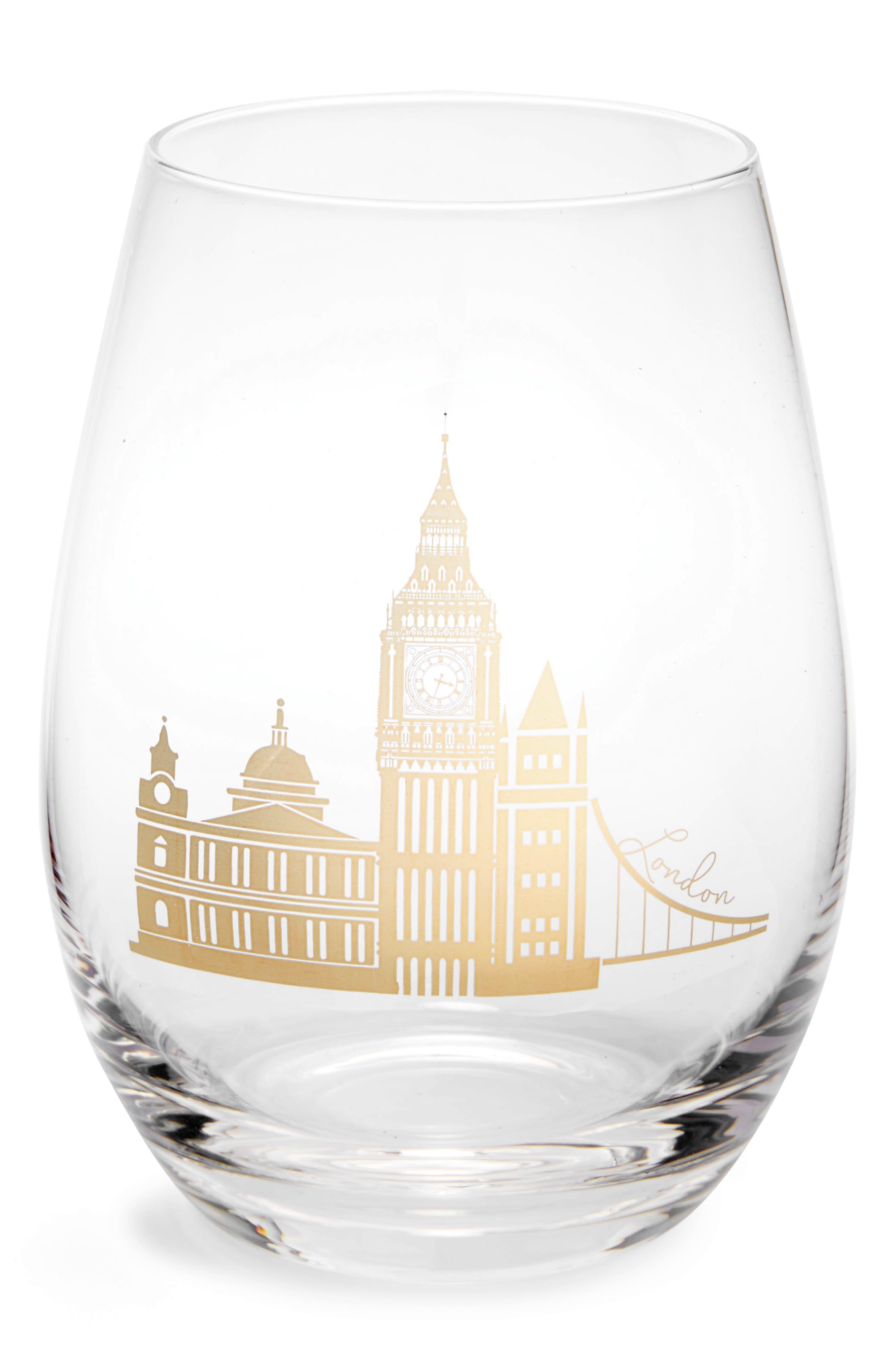 American Atelier City Skyline Stemless Wine Glass