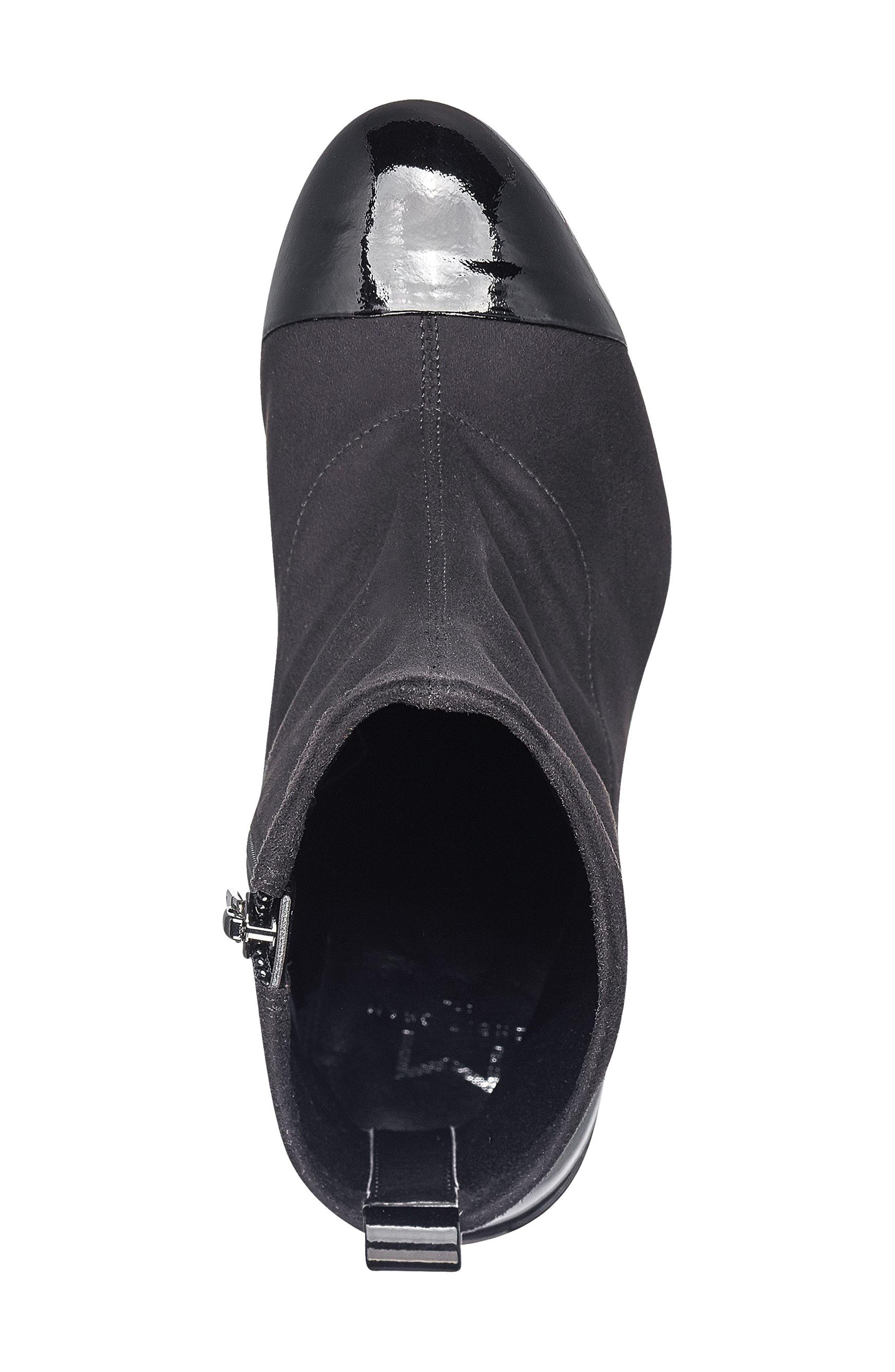 Tache Bootie,                             Alternate thumbnail 4, color,                             Black Stretch Fabric