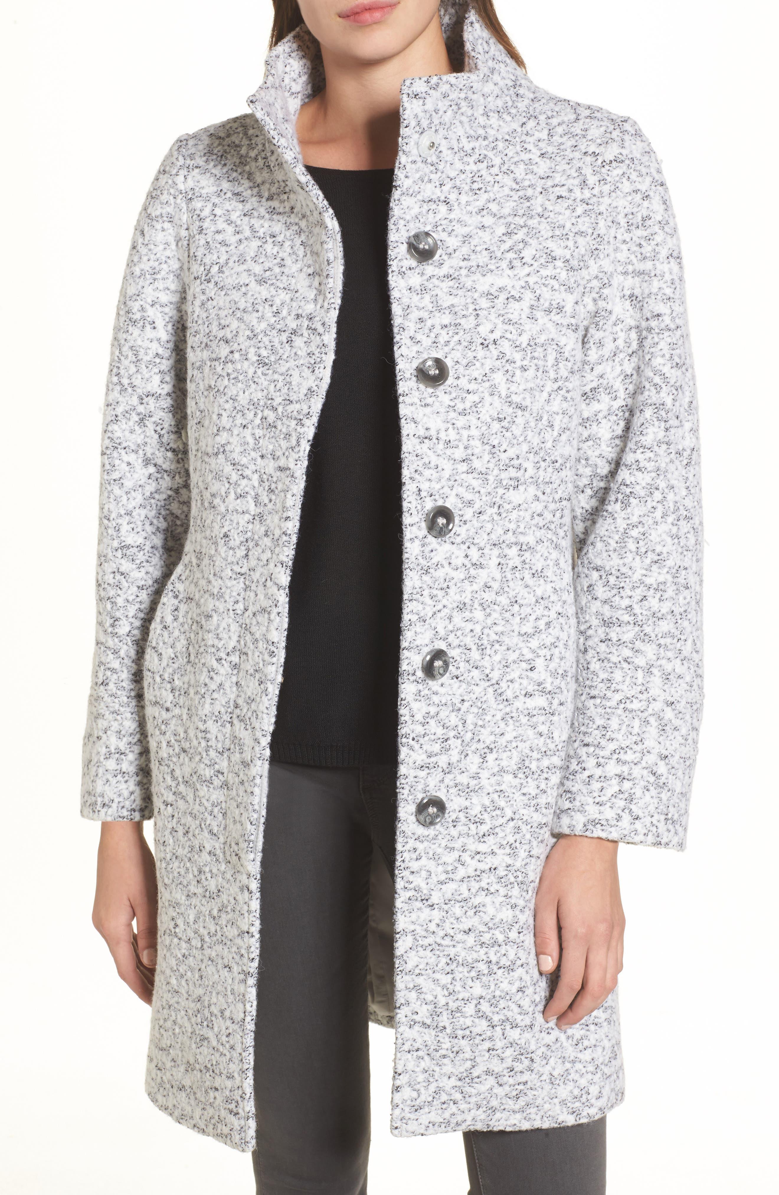 Car Coat,                         Main,                         color, Grey Melange