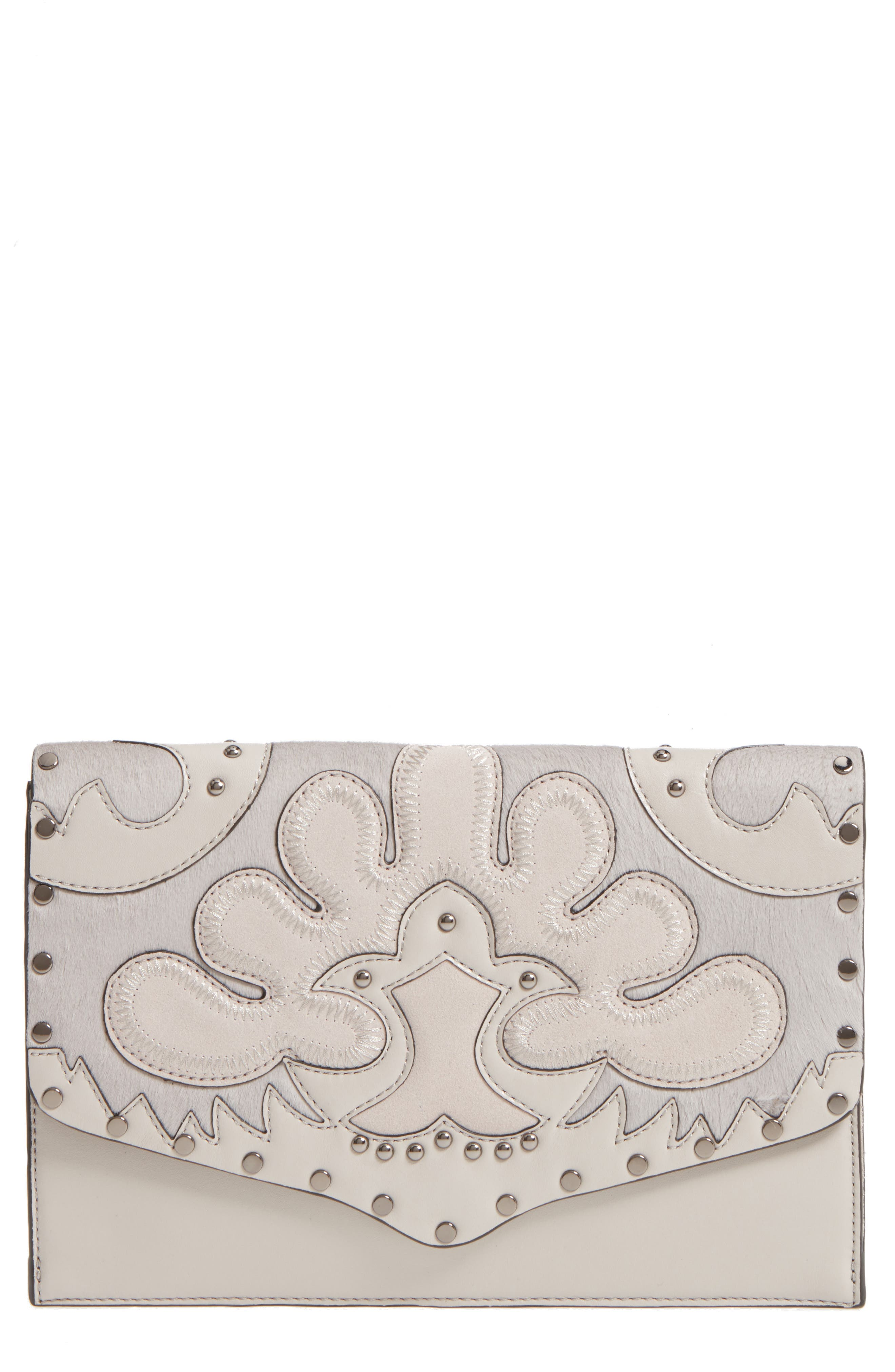 Rebecca Minkoff Biker Genuine Calf Hair Clutch