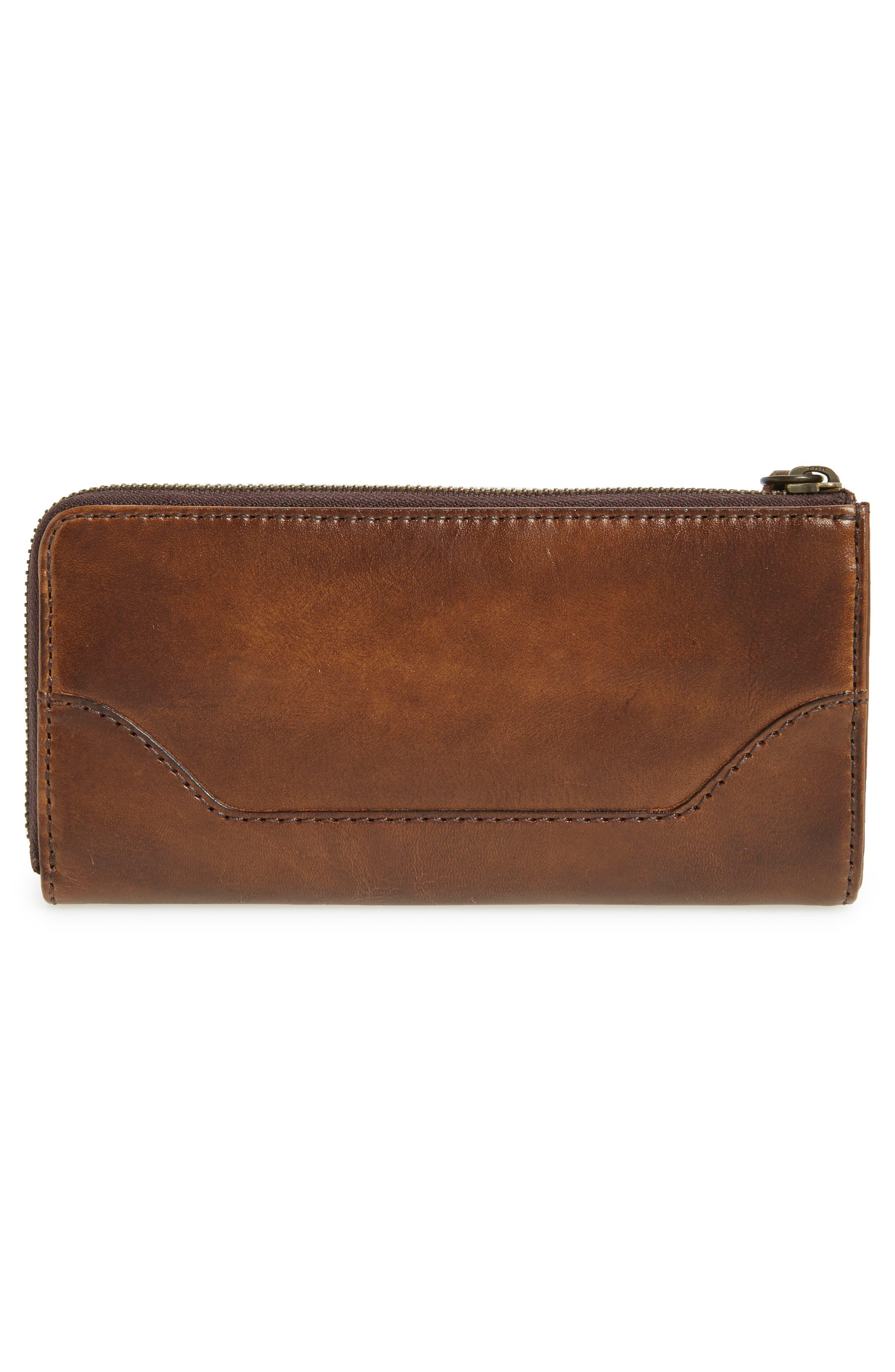 Melissa Leather Wallet,                             Alternate thumbnail 4, color,                             Dark Brown