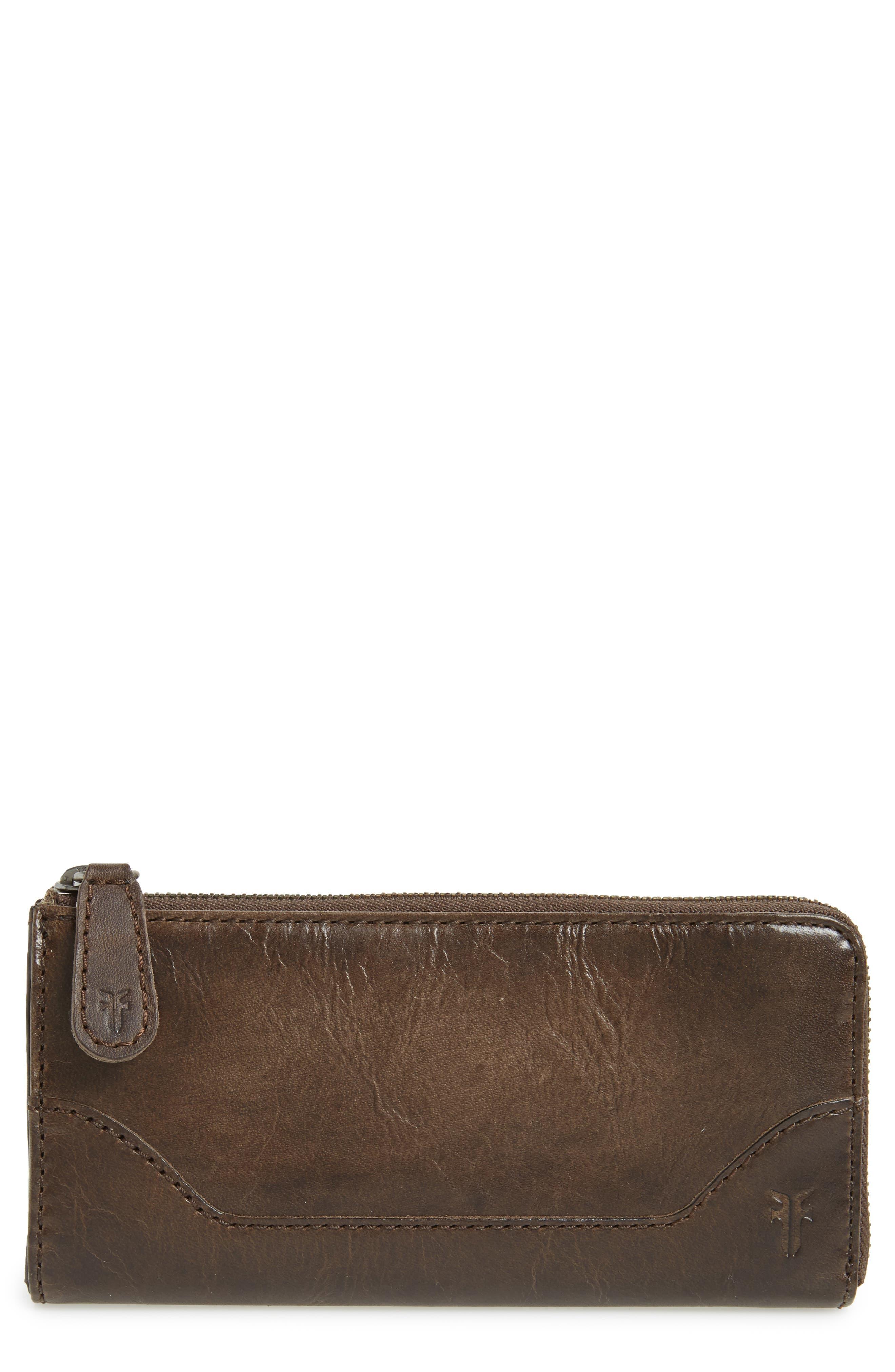 Melissa Leather Wallet,                             Main thumbnail 1, color,                             Slate