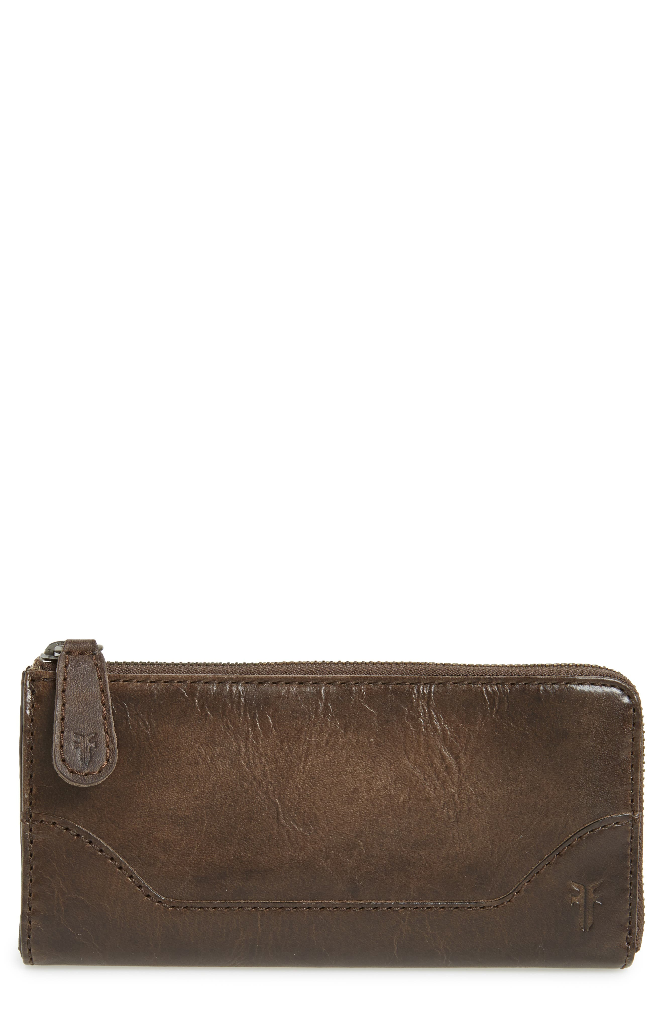 Melissa Leather Wallet,                         Main,                         color, Slate