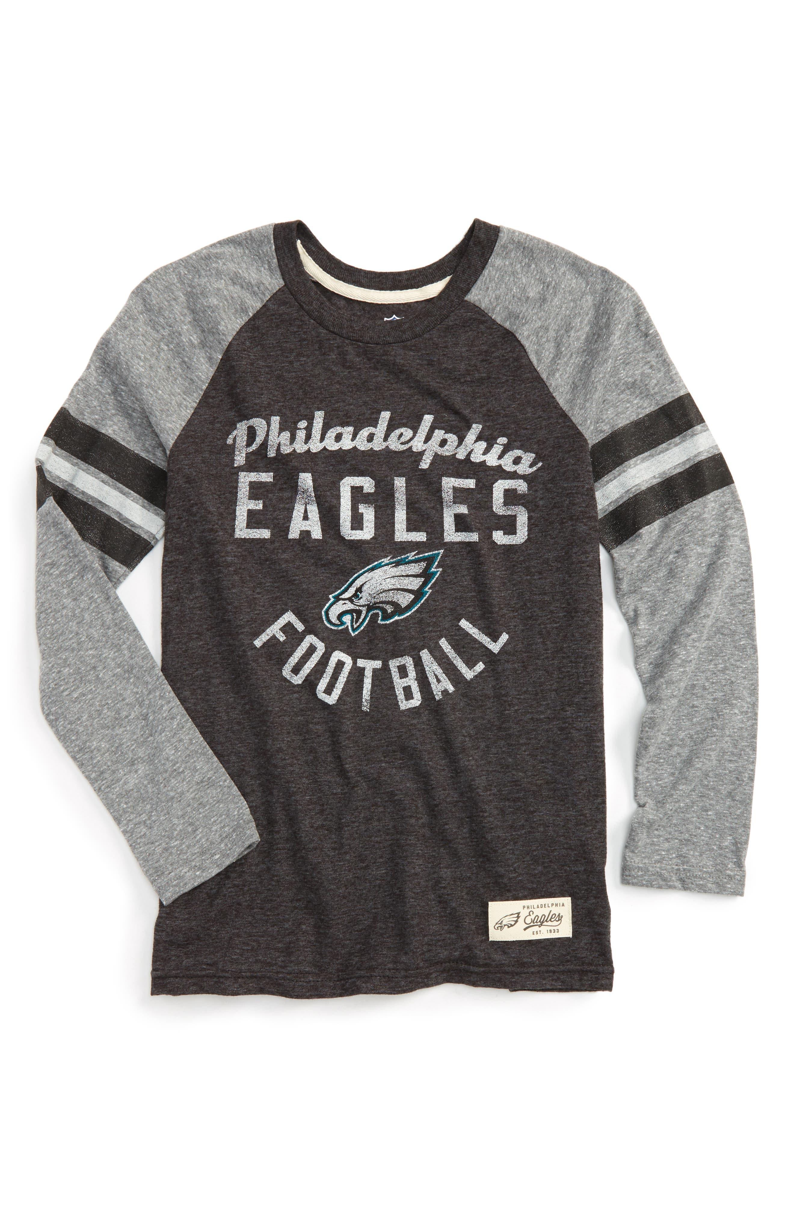 NFL Philadelphia Eagles Distressed Logo T-Shirt,                         Main,                         color, Jade