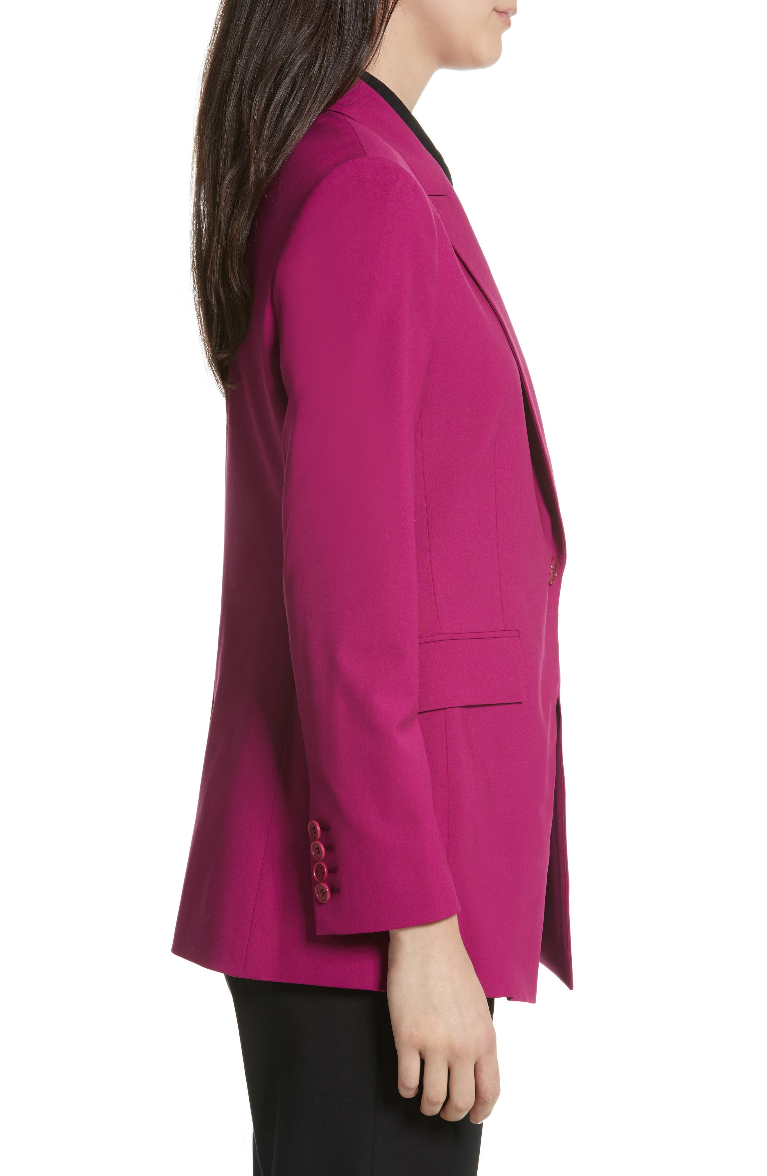Etienette B Good Wool Suit Jacket,                             Alternate thumbnail 4, color,                             Electric Pink