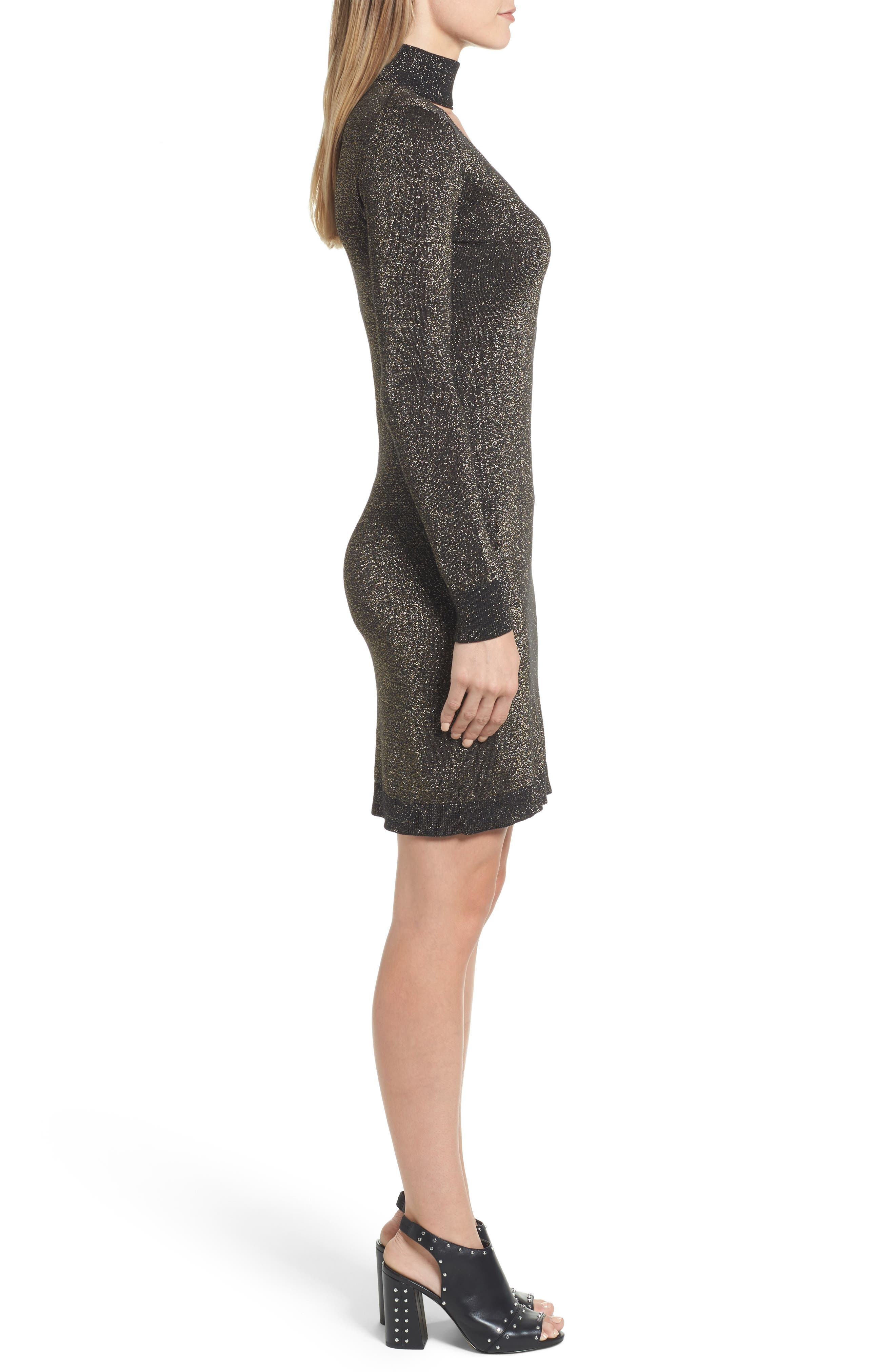 Alternate Image 3  - MICHAEL Michael Kors Choker Sweater Dress