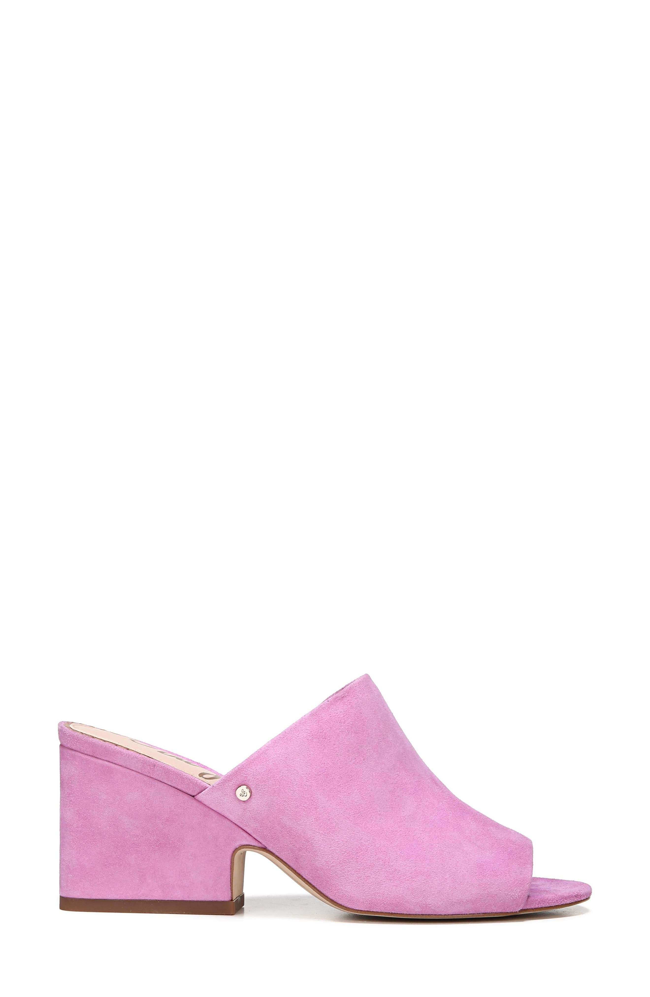 Rheta Mule,                             Alternate thumbnail 3, color,                             Fiji Pink Suede