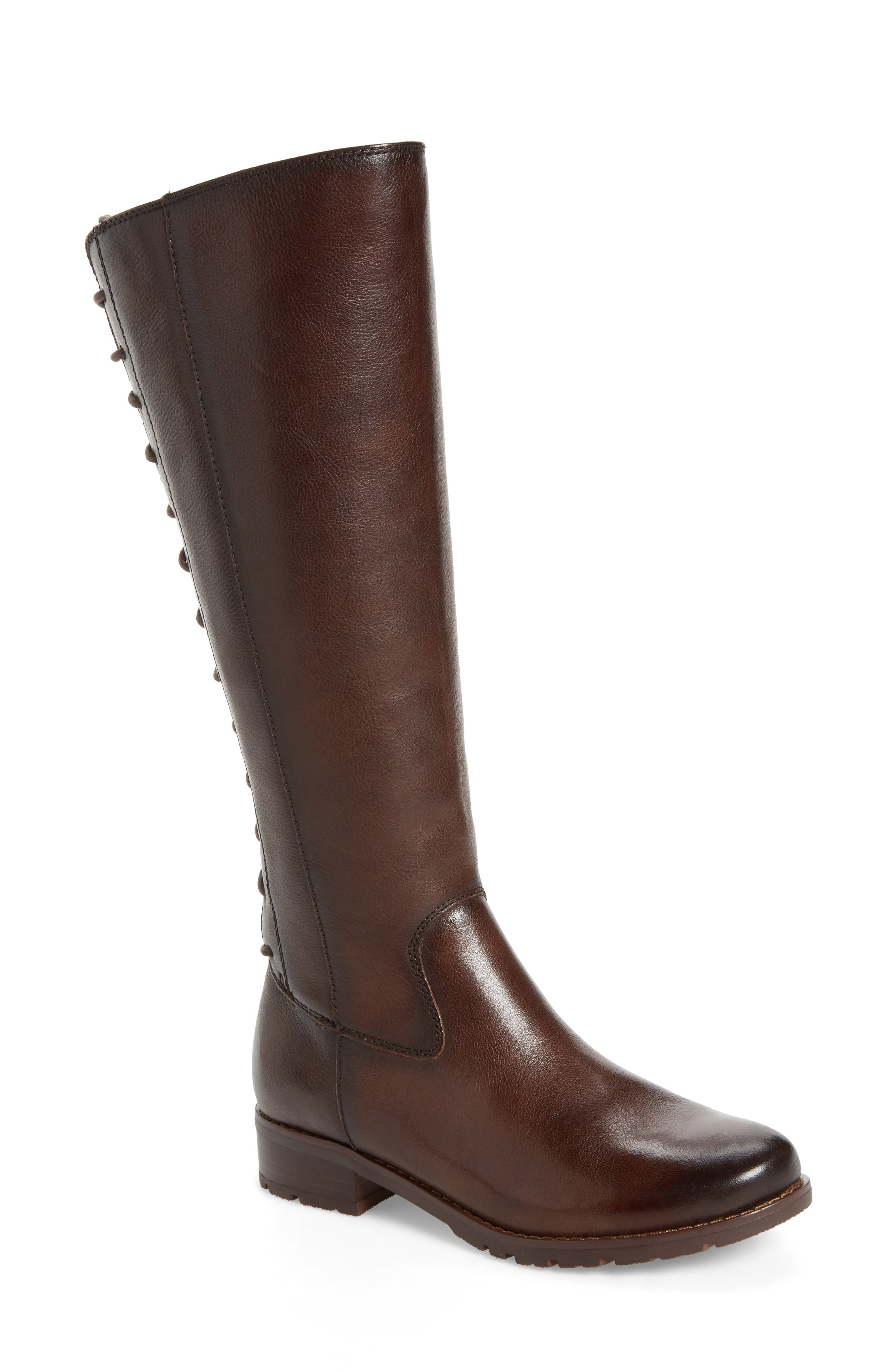 'Sharnell' Riding Boot,                             Main thumbnail 1, color,                             Aztec Brown Leather