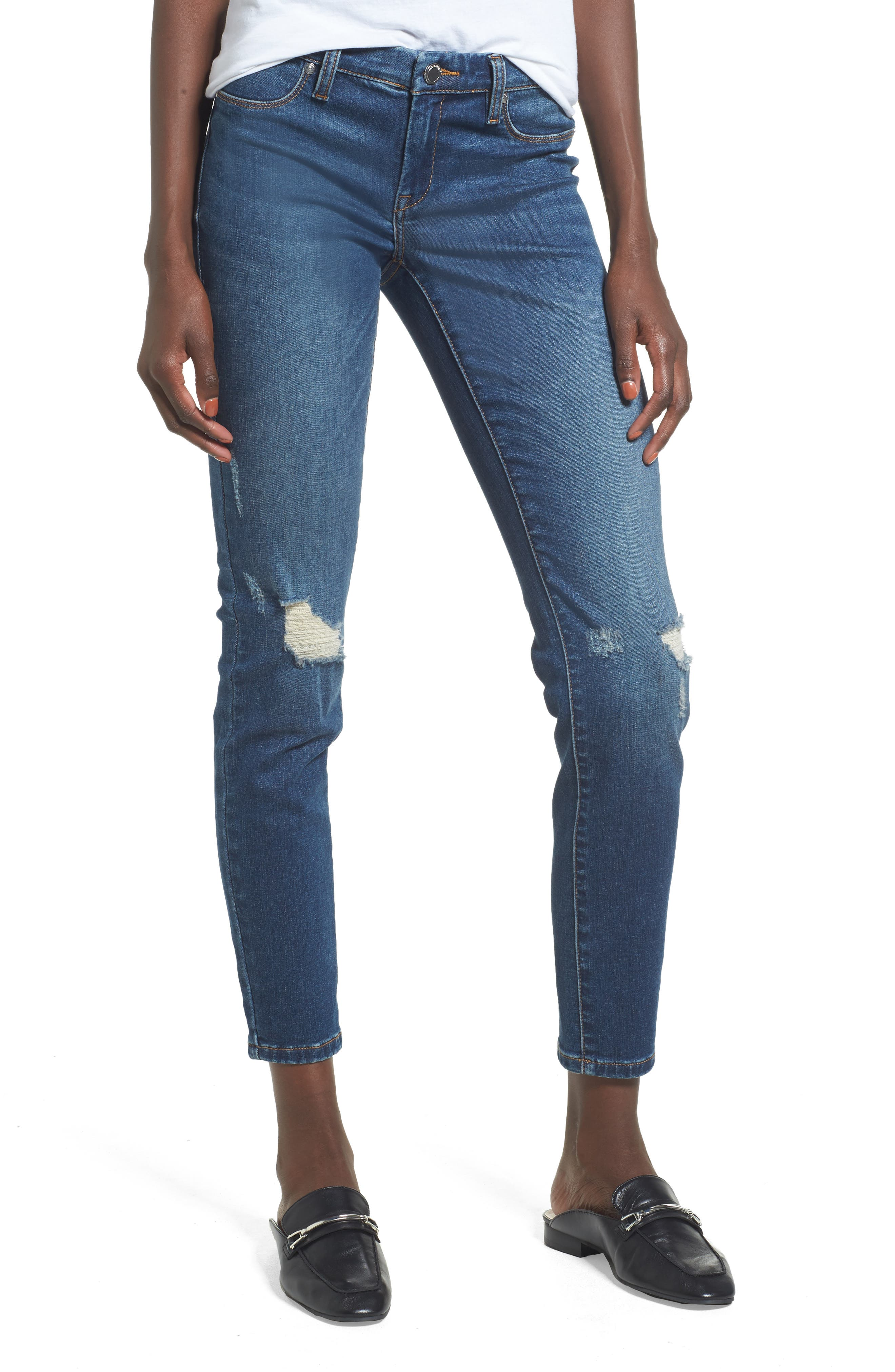 Great Escape Skinny Jeans,                             Main thumbnail 1, color,                             Blue