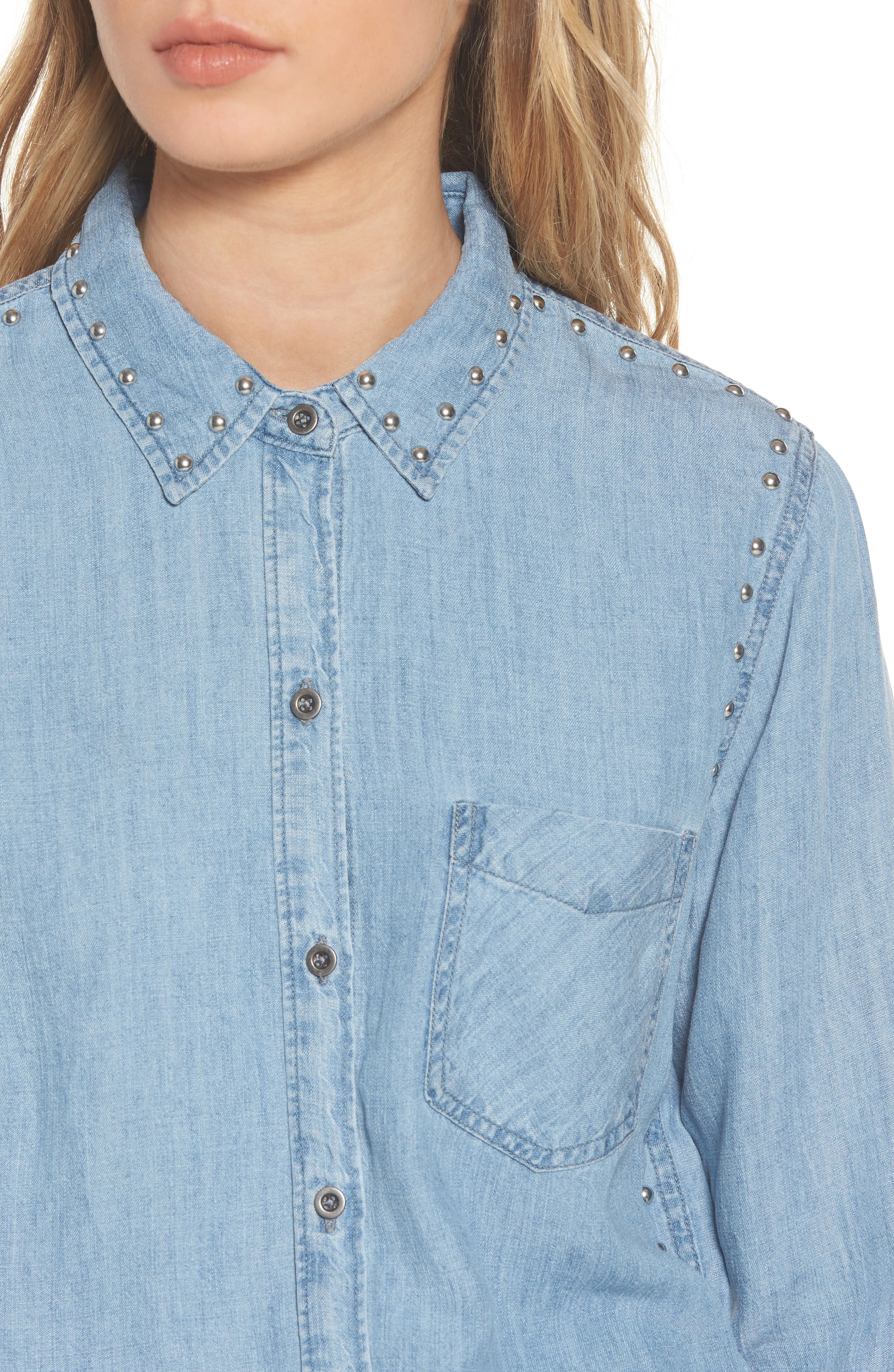 Alternate Image 5  - Rails Ingrid Studded Shirt