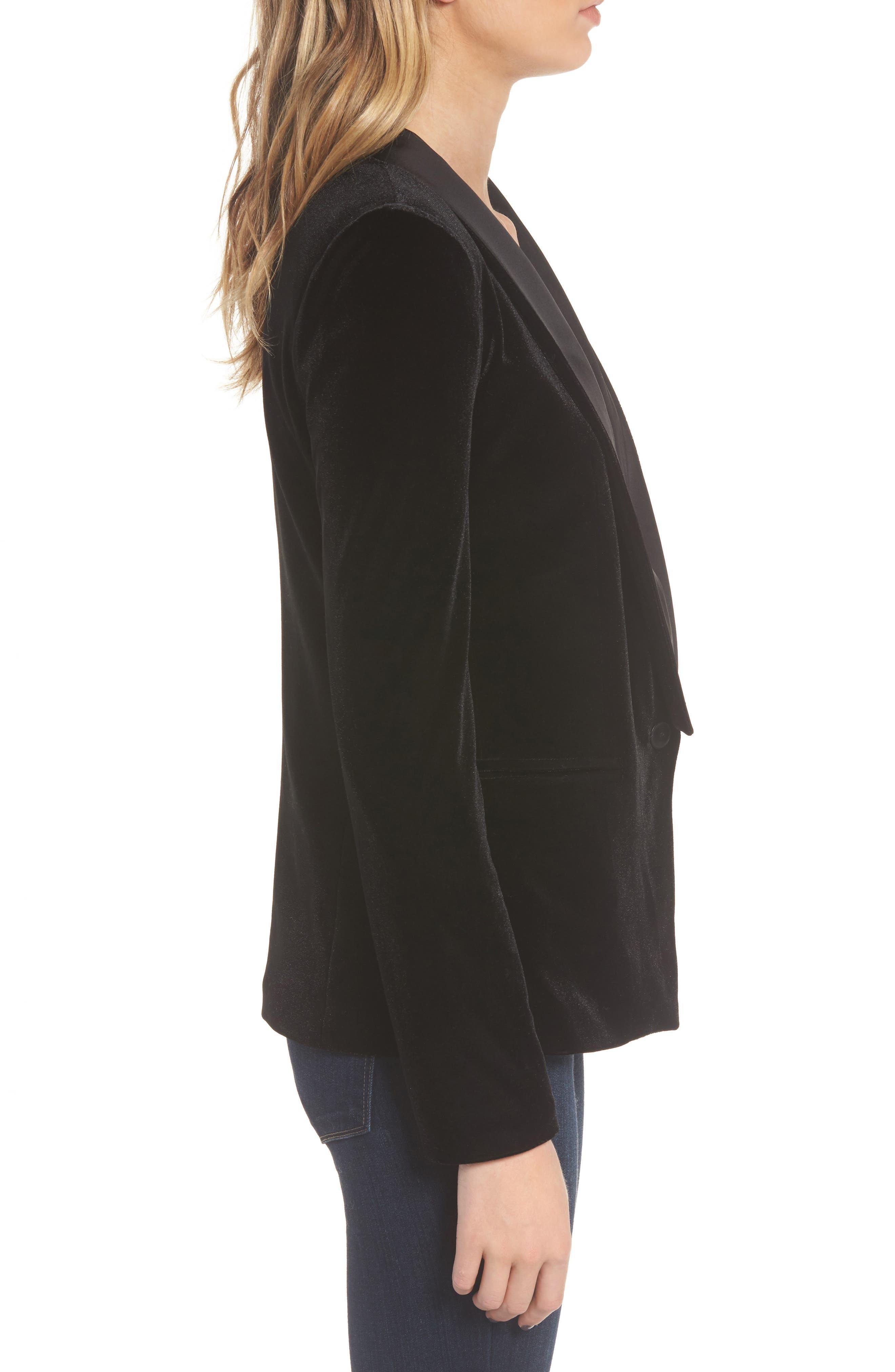 Dracula Jacket,                             Alternate thumbnail 3, color,                             Black