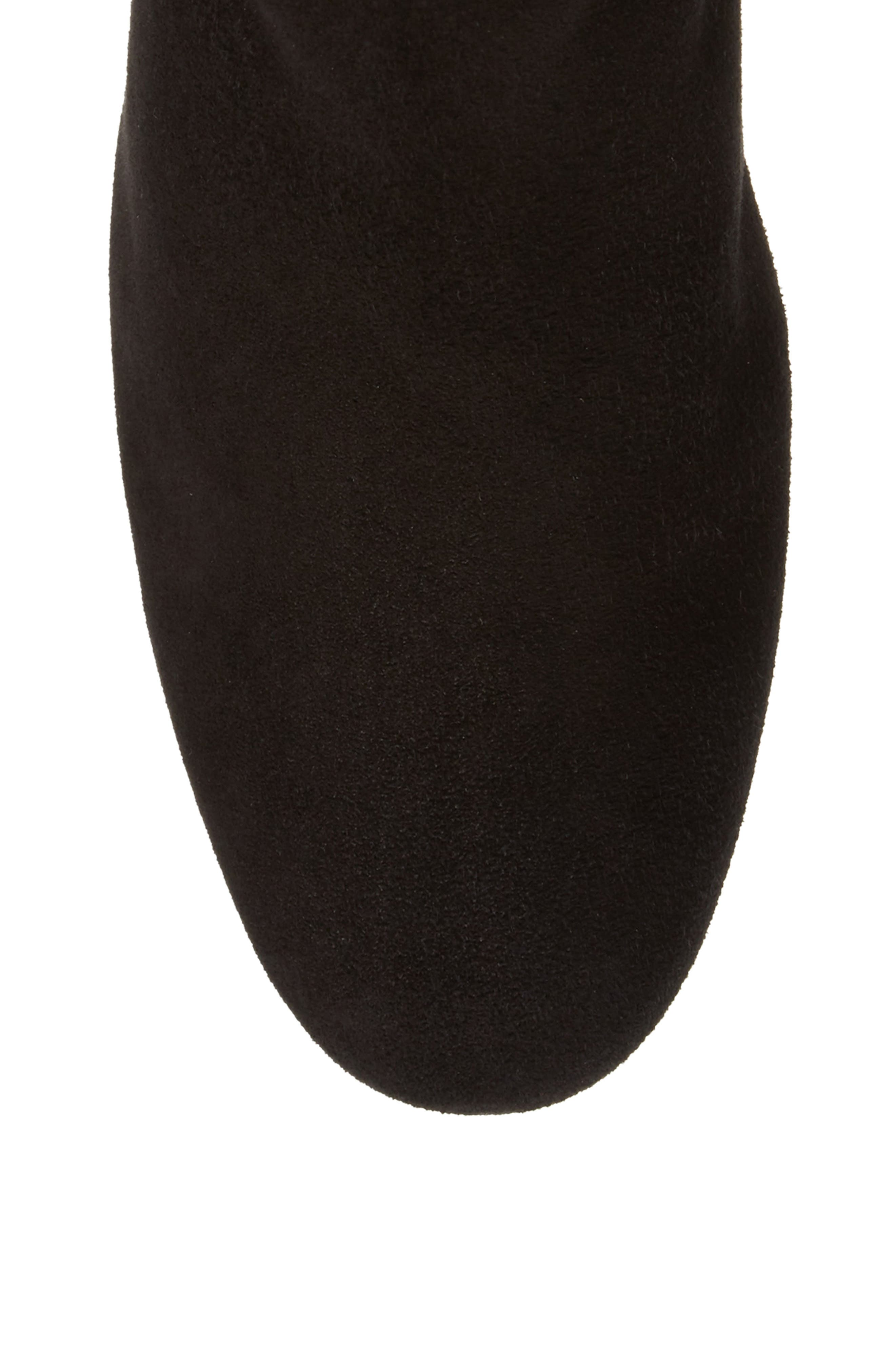 Over the Knee Boot,                             Alternate thumbnail 5, color,                             Black Suede