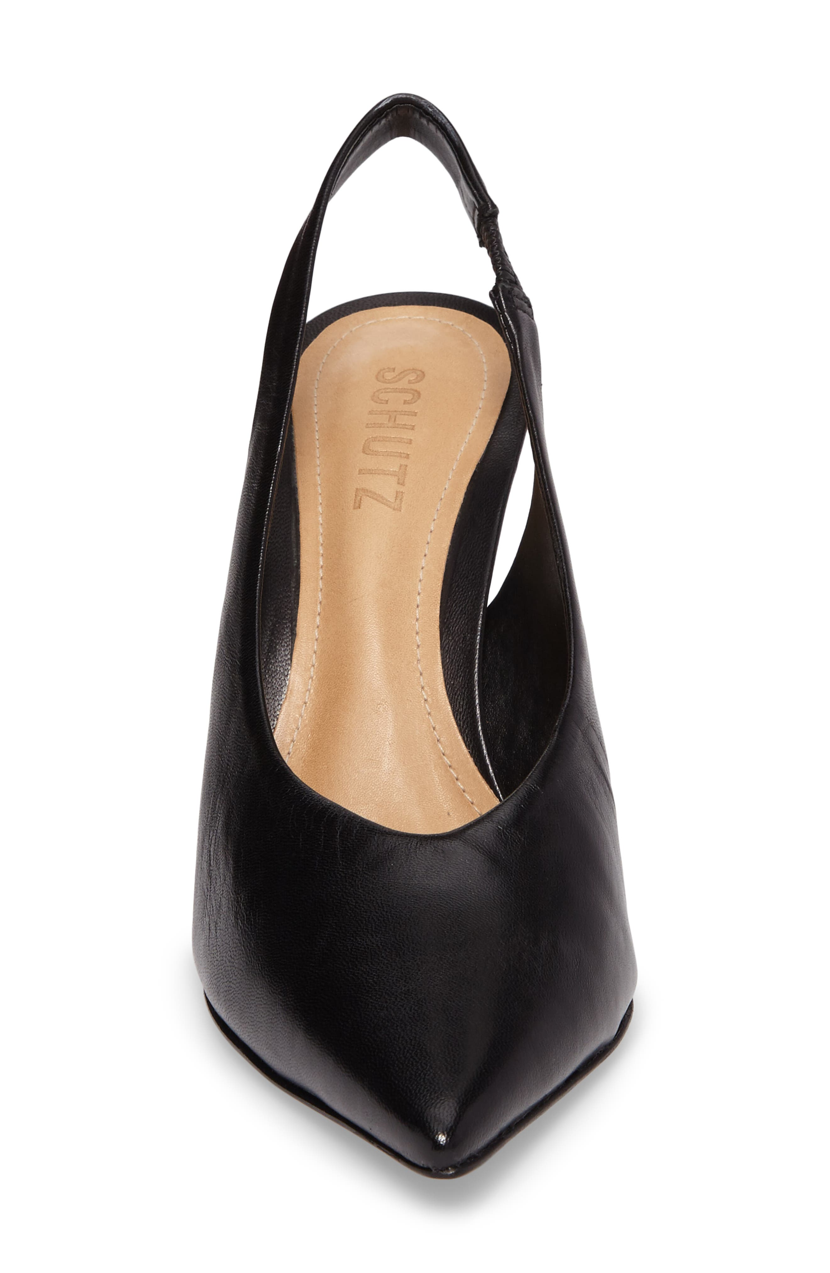 Phisalis Slingback Pump,                             Alternate thumbnail 4, color,                             Black Mestico Leather