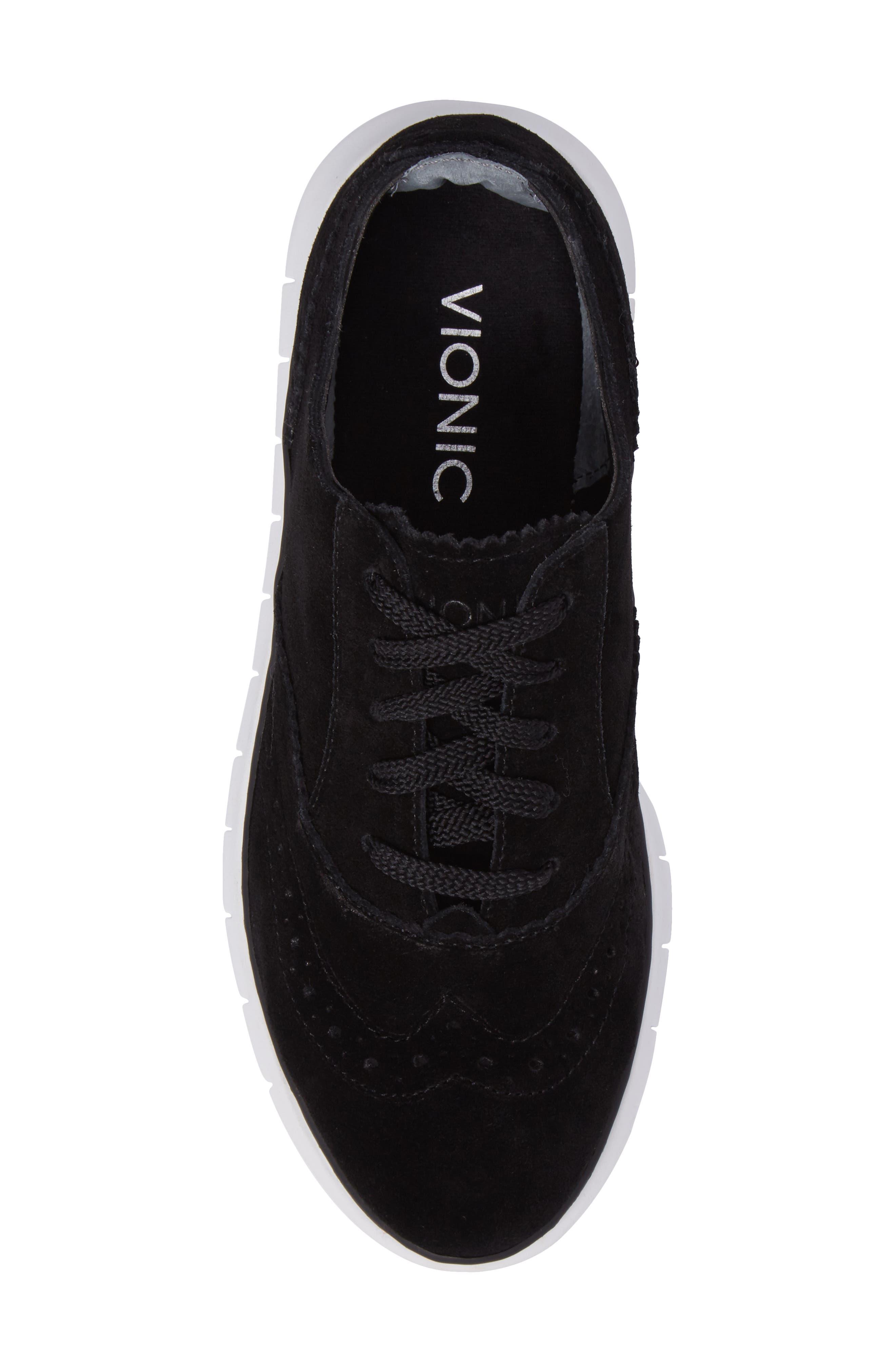 Kenley Sneaker,                             Alternate thumbnail 5, color,                             Black Suede