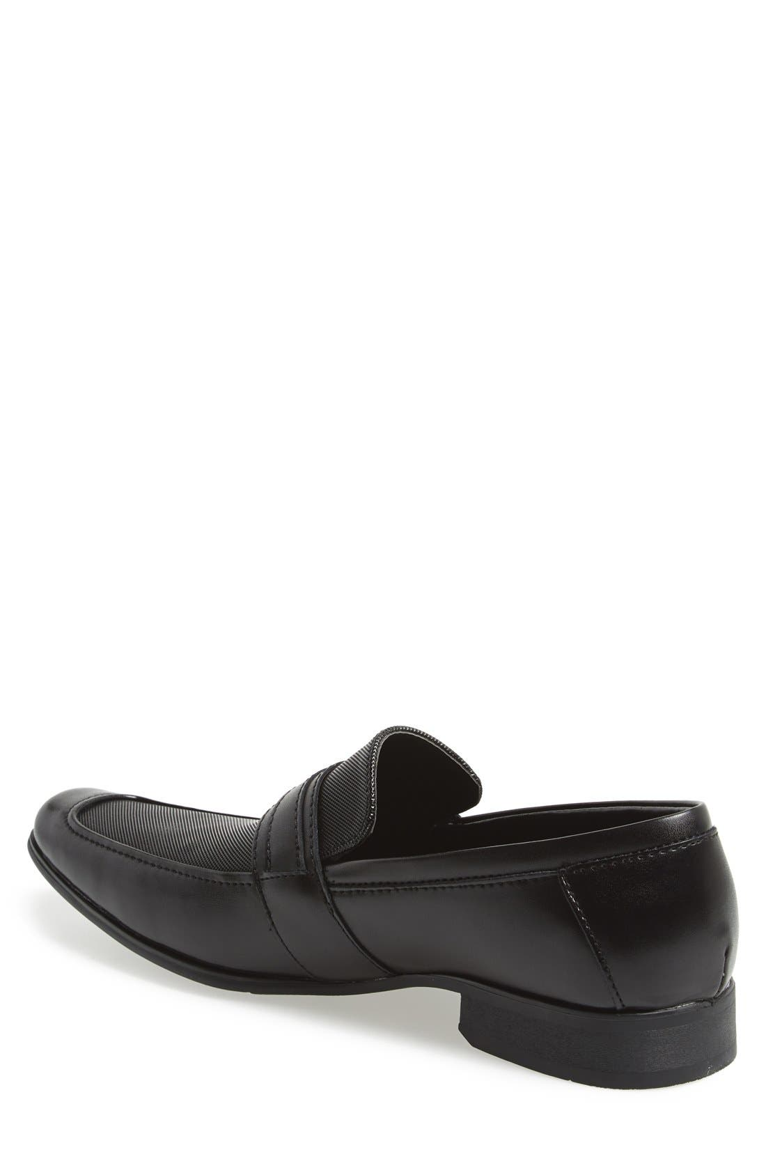'Bartley' Bit Loafer,                             Alternate thumbnail 2, color,                             Black