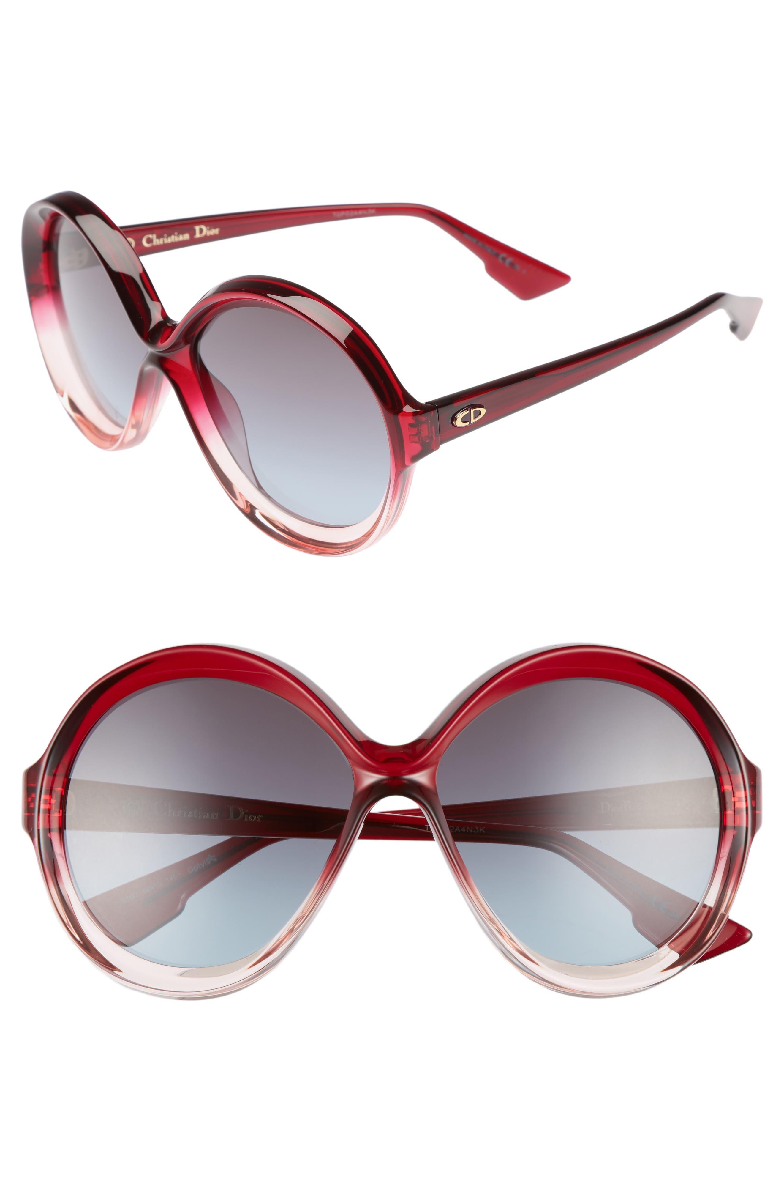Alternate Image 1 Selected - Dior Bianca 58mm Round Sunglasses