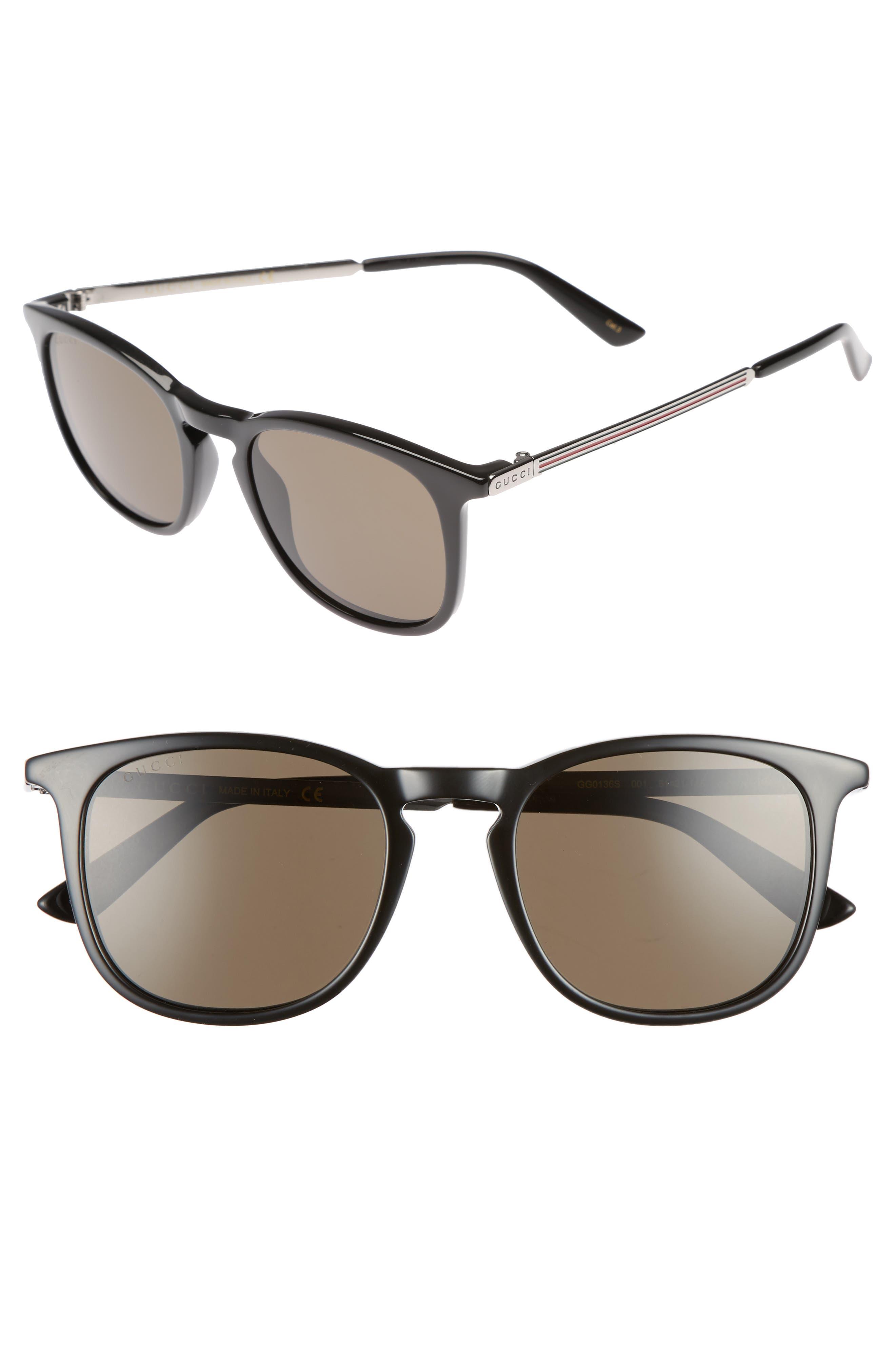 Optyl 51mm Sunglasses,                         Main,                         color, Black