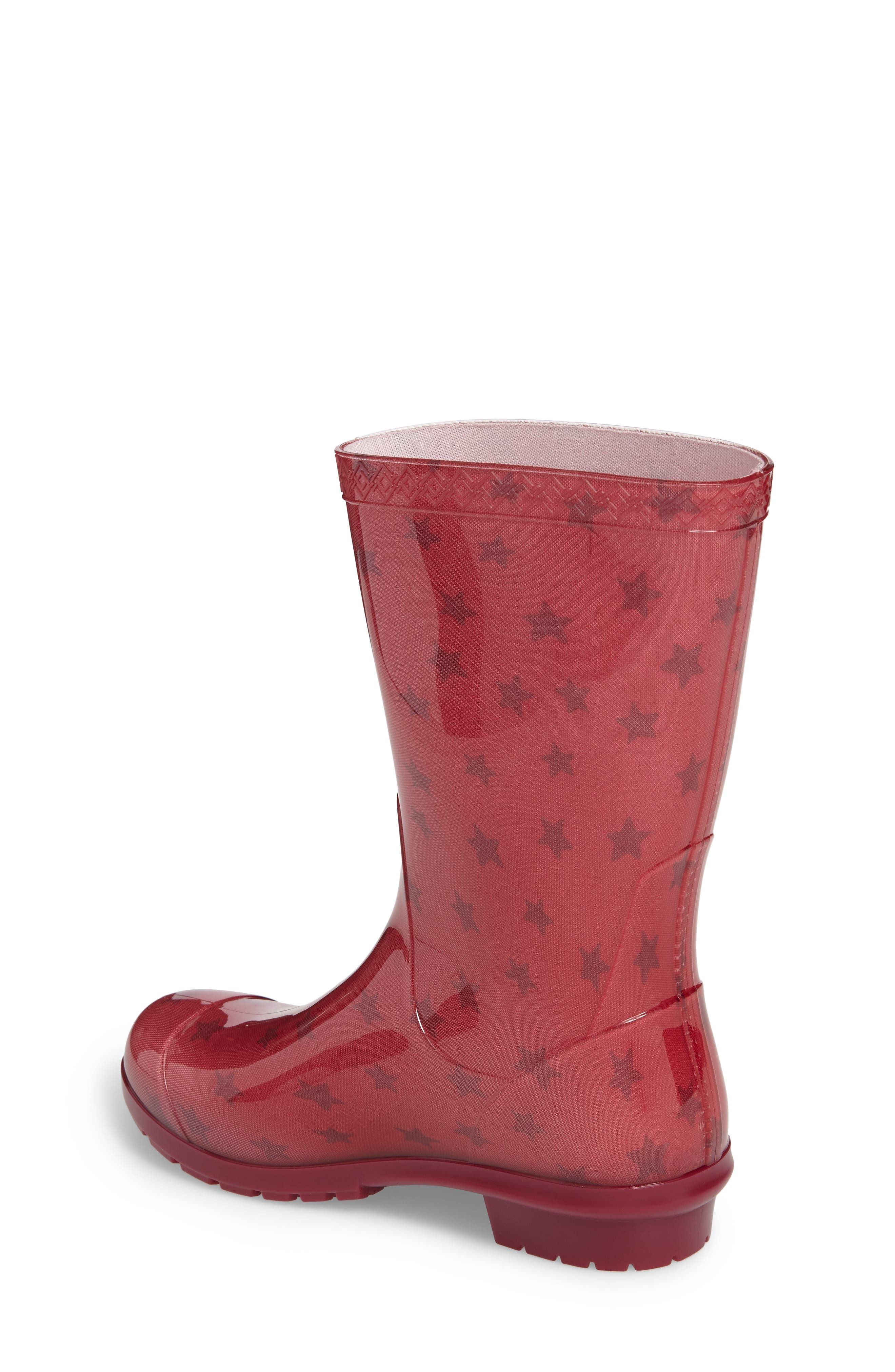 Alternate Image 2  - UGG® Raana Stars Waterproof Rain Boot (Little Kid & Big Kid)