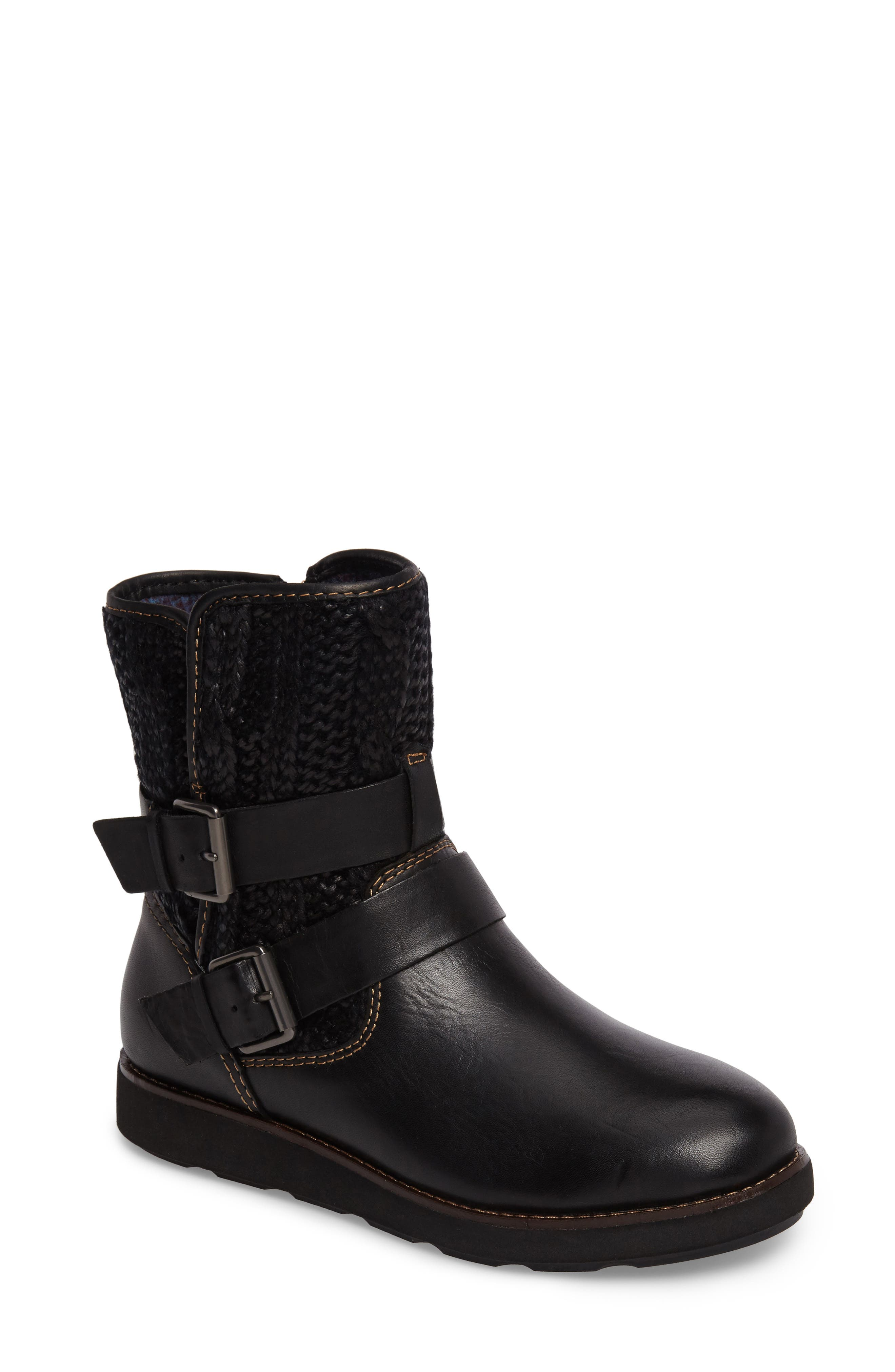 Nordic Boot,                             Main thumbnail 1, color,                             Black Leather