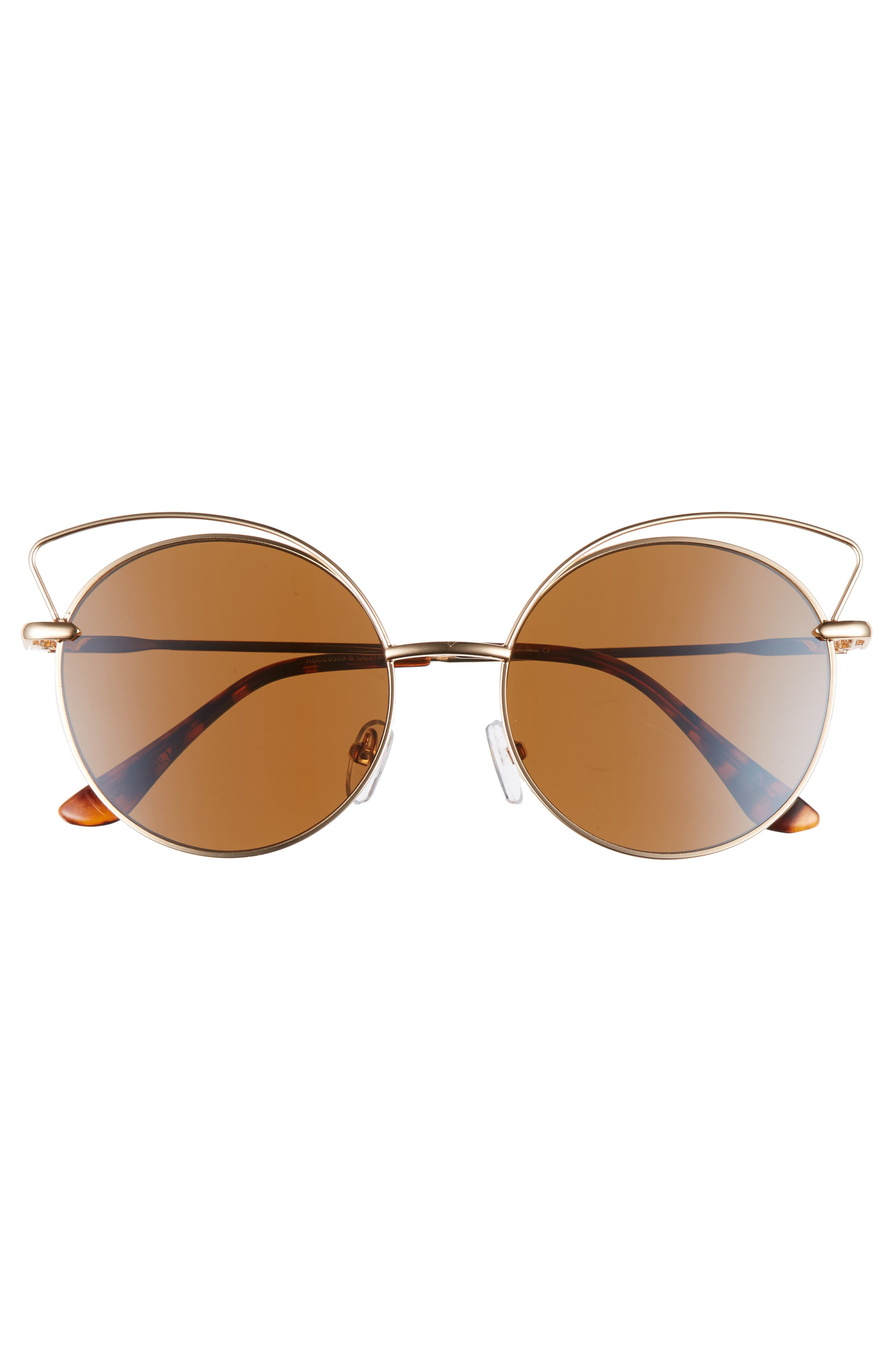 Satellite 55mm Round Sunglasses,                             Alternate thumbnail 3, color,                             Gold