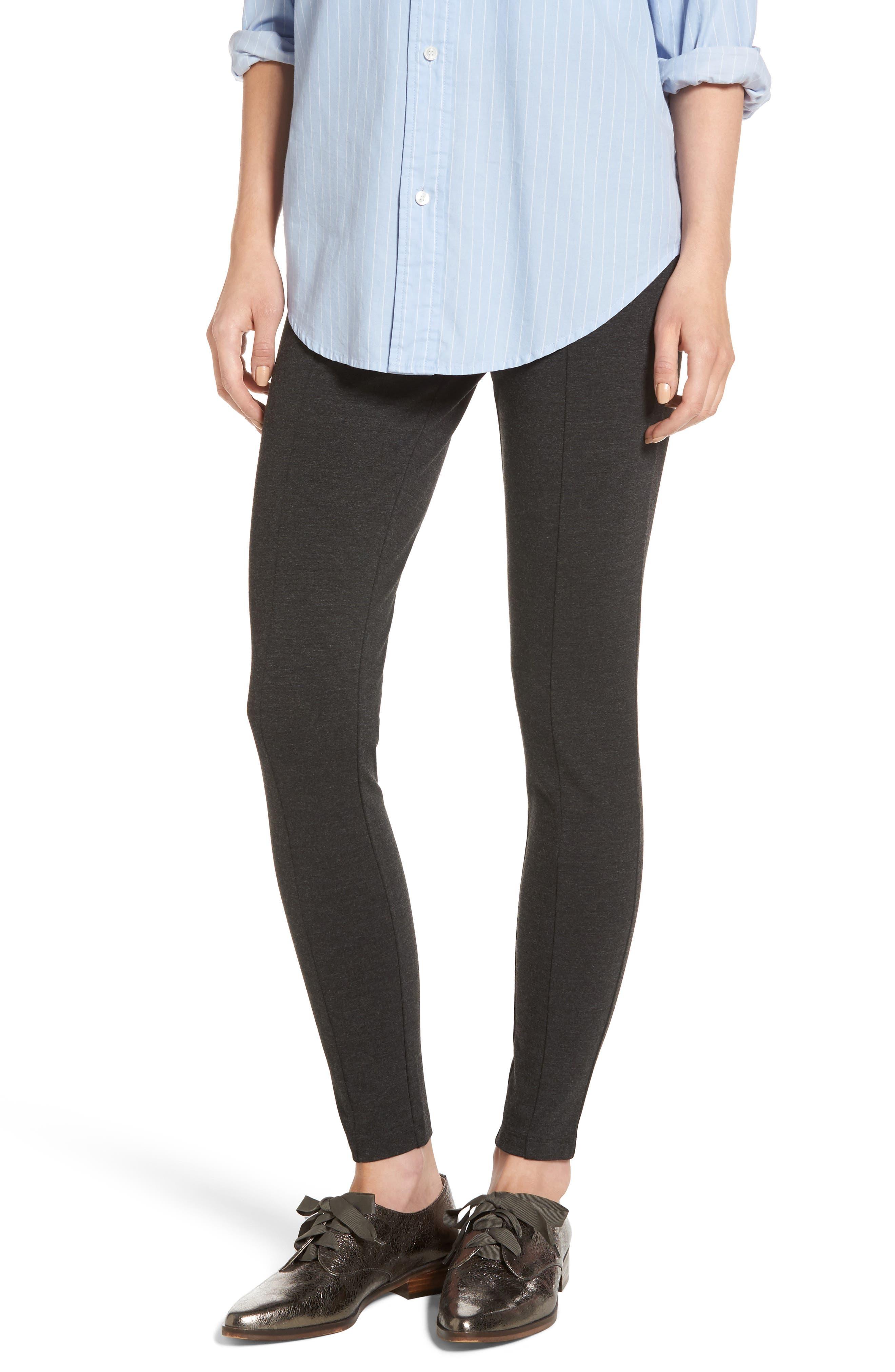 Main Image - Halogen® Seamed Ponte Knit Leggings (Regular & Petite)