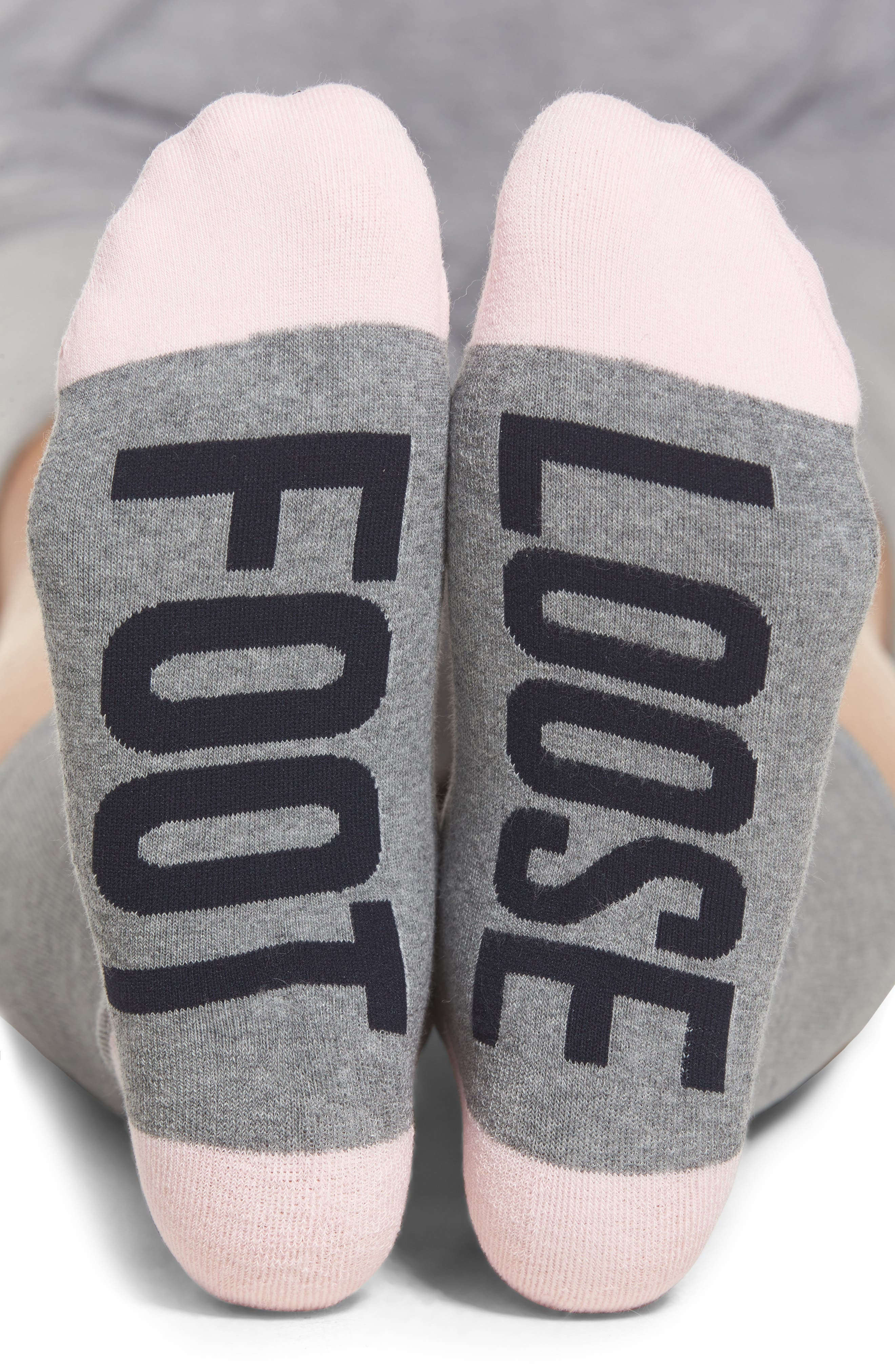 Foot Loose Crew Socks,                             Main thumbnail 1, color,                             Grey Heather