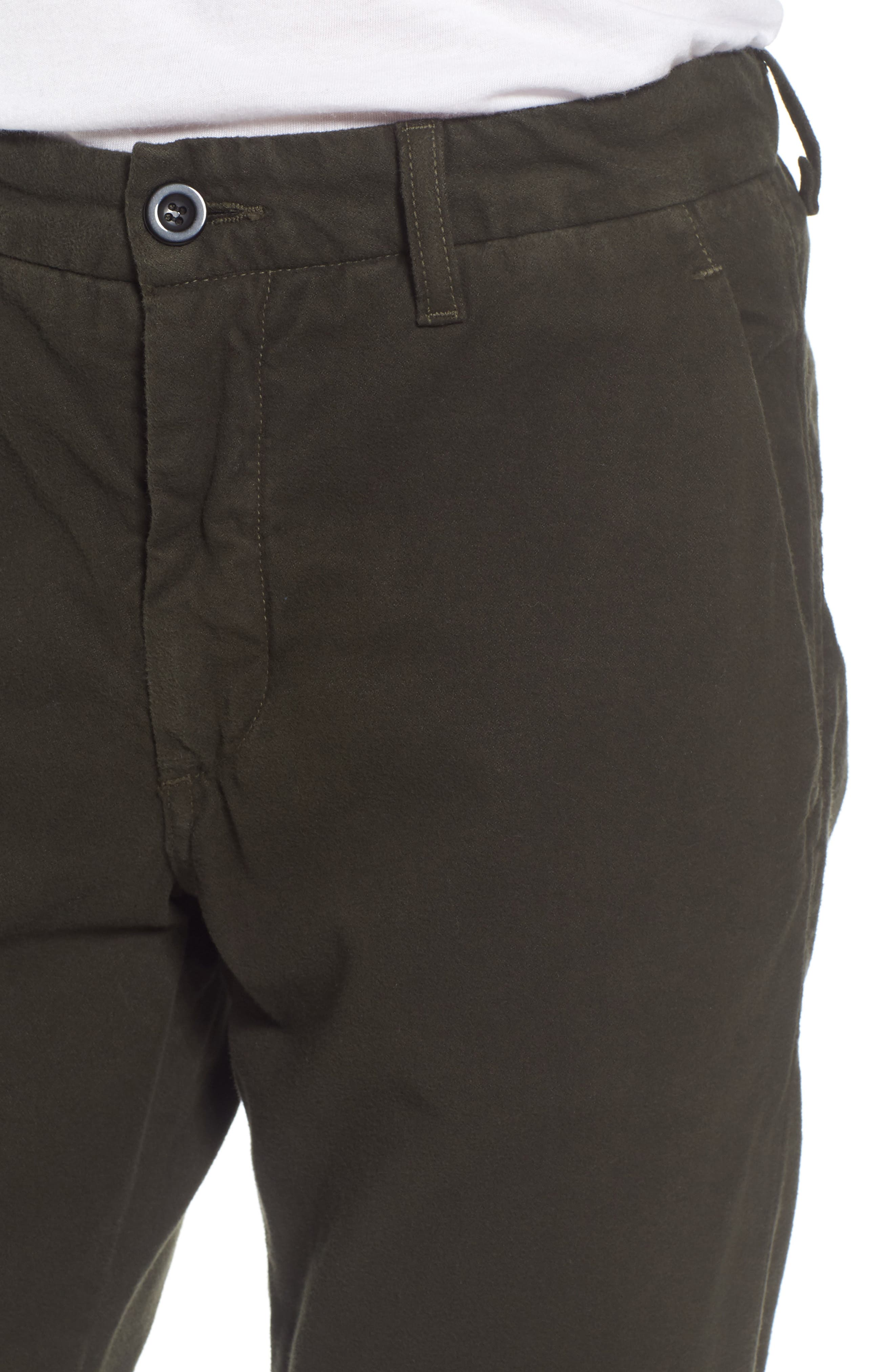 Slim Fit Trousers,                             Alternate thumbnail 4, color,                             Forest