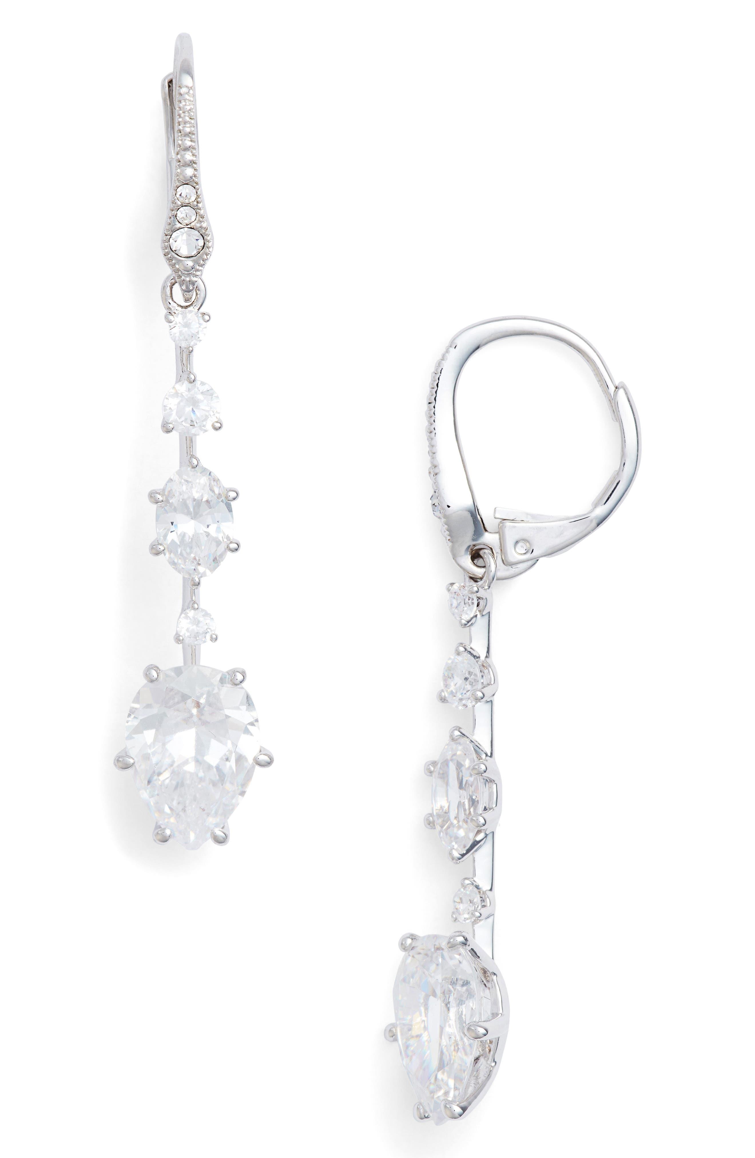 Alternate Image 1 Selected - Nadri Royale Cubic Zirconia Drop Earrings