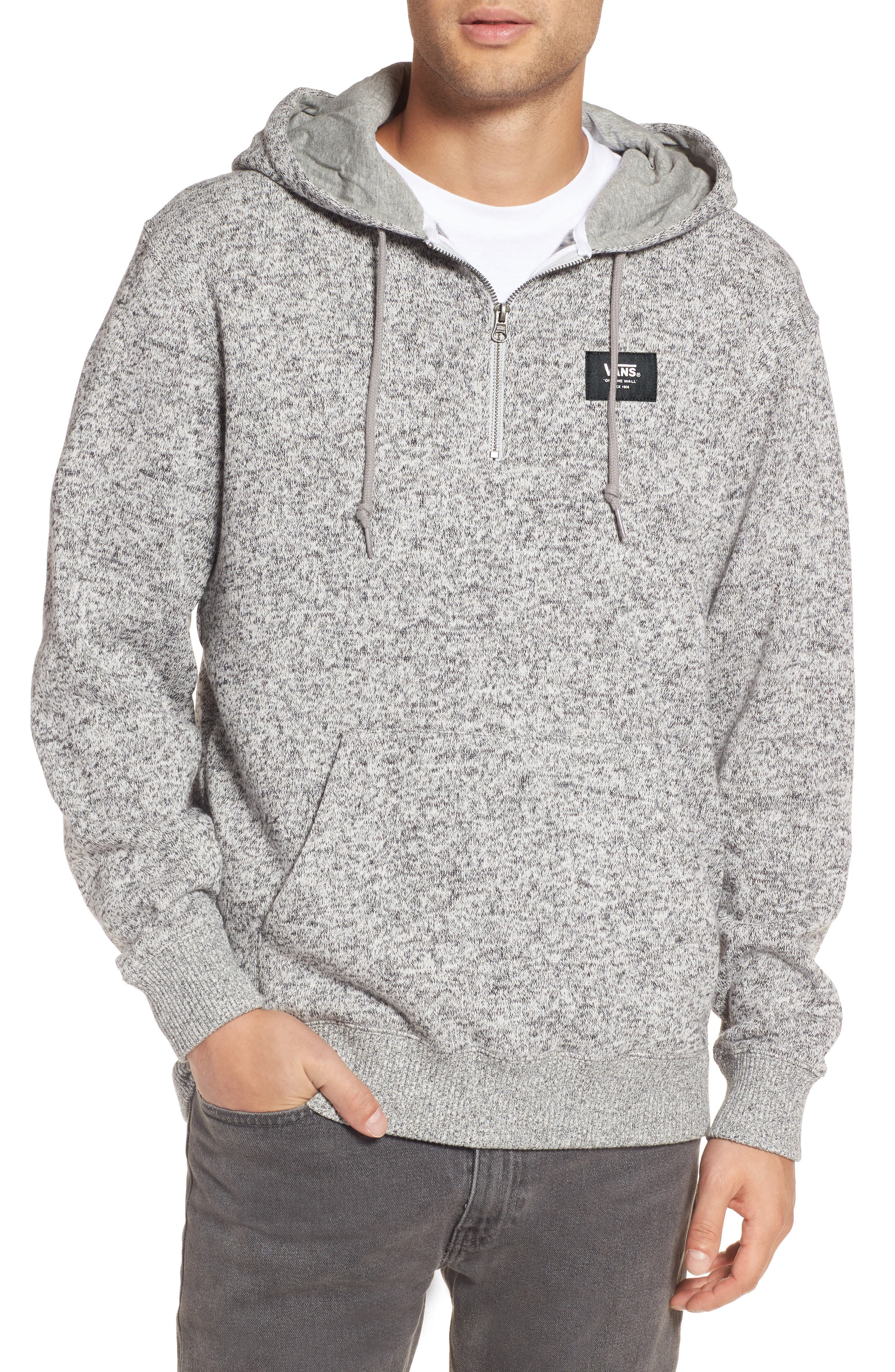 Flurry Half Zip Hoodie,                             Main thumbnail 1, color,                             Lunar Rock Heather