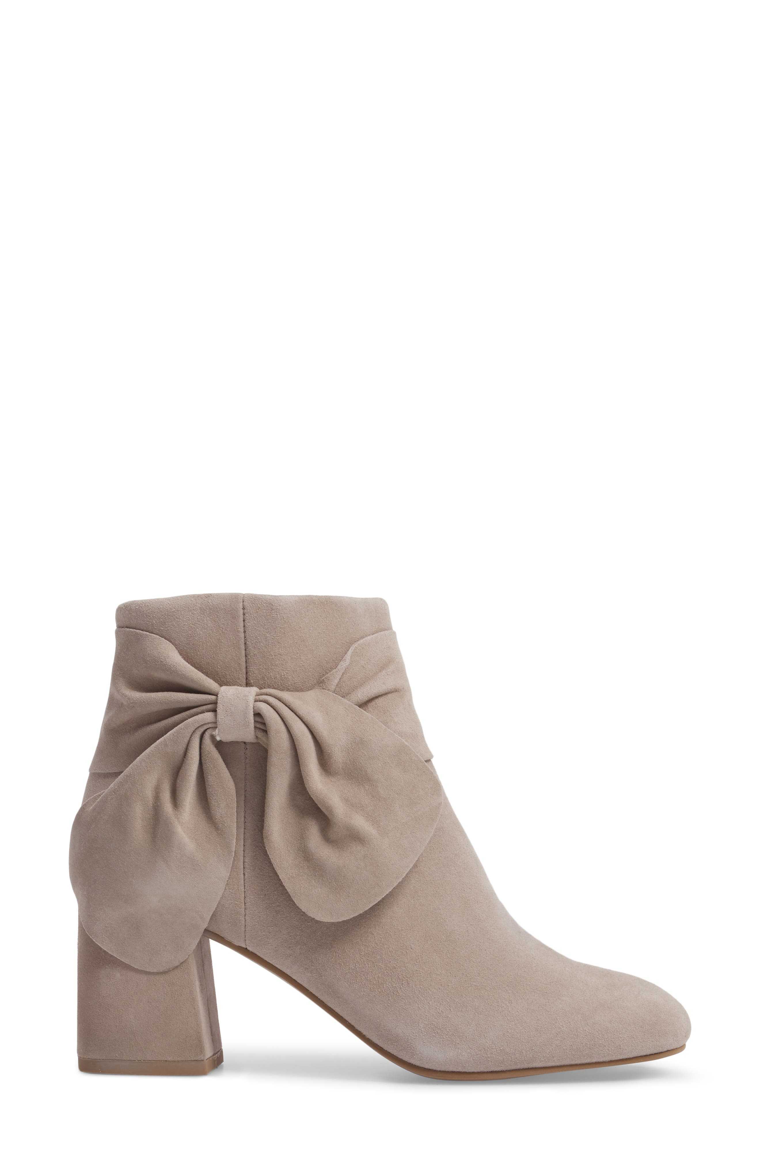 Catwalk Bootie,                             Alternate thumbnail 3, color,                             Taupe Suede