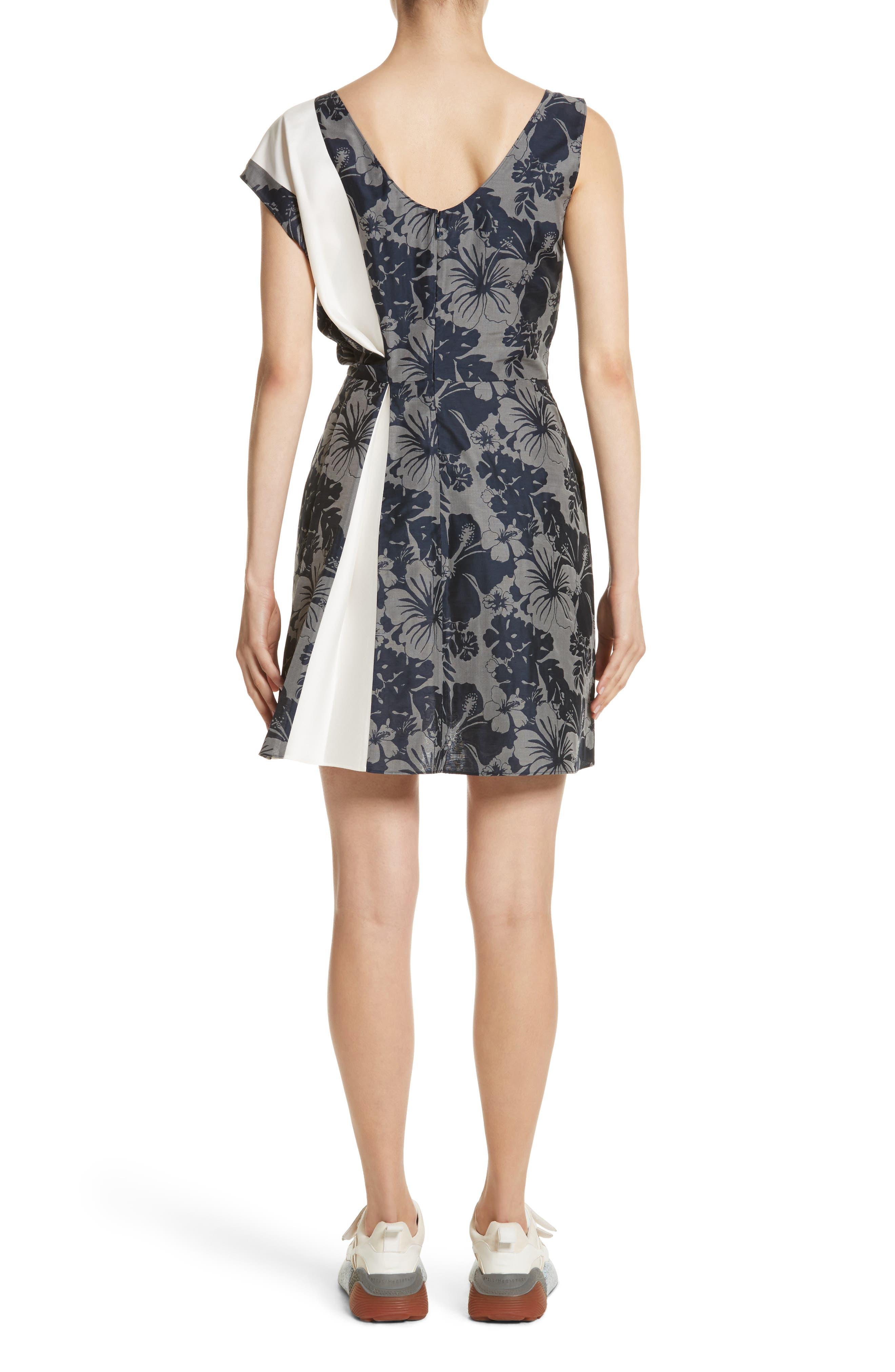 Alternate Image 2  - Stella McCartney Pleated Floral Jacquard Dress