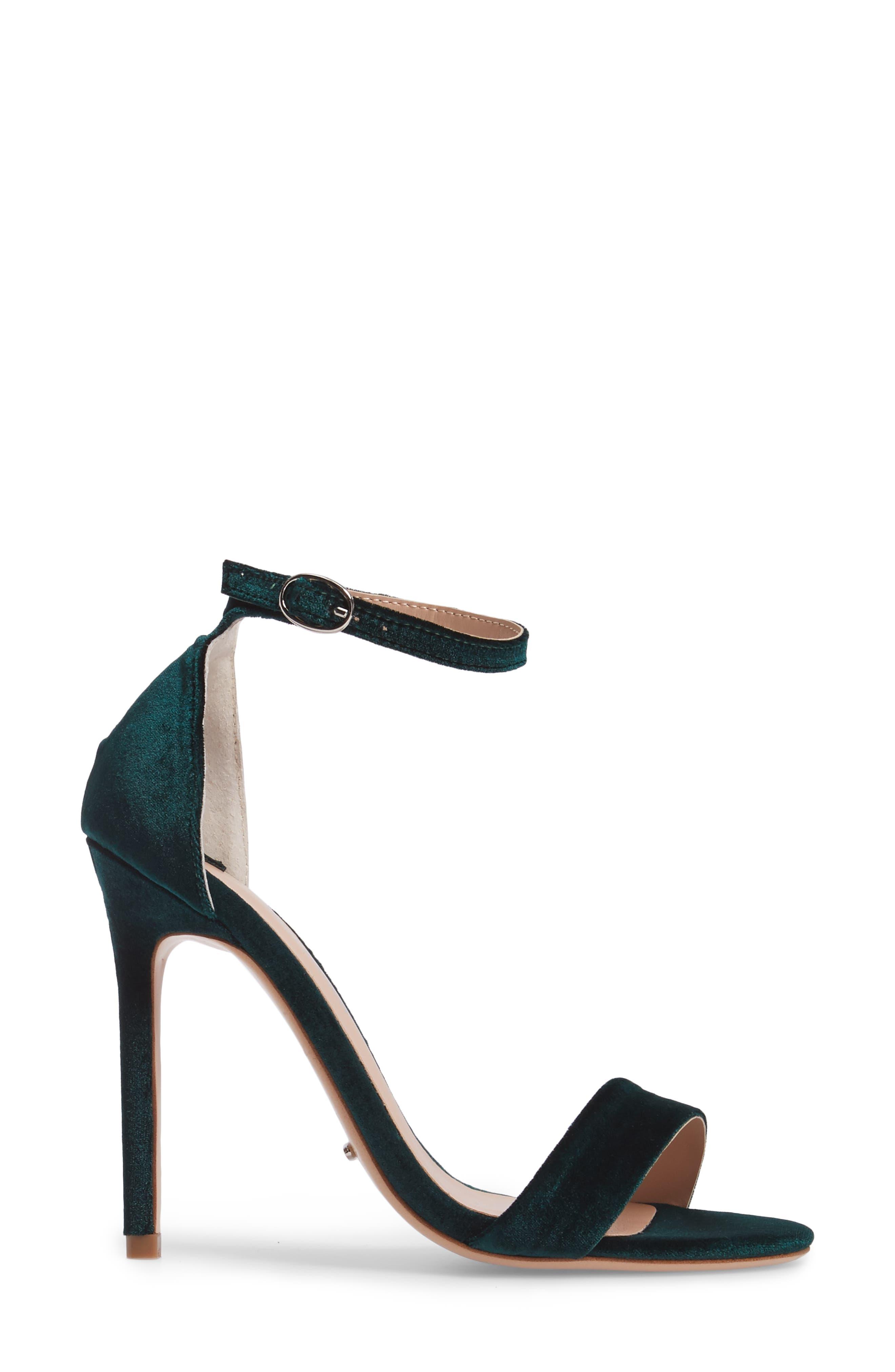 Karvan Ankle Strap Sandal,                             Alternate thumbnail 3, color,                             Forest Velvet