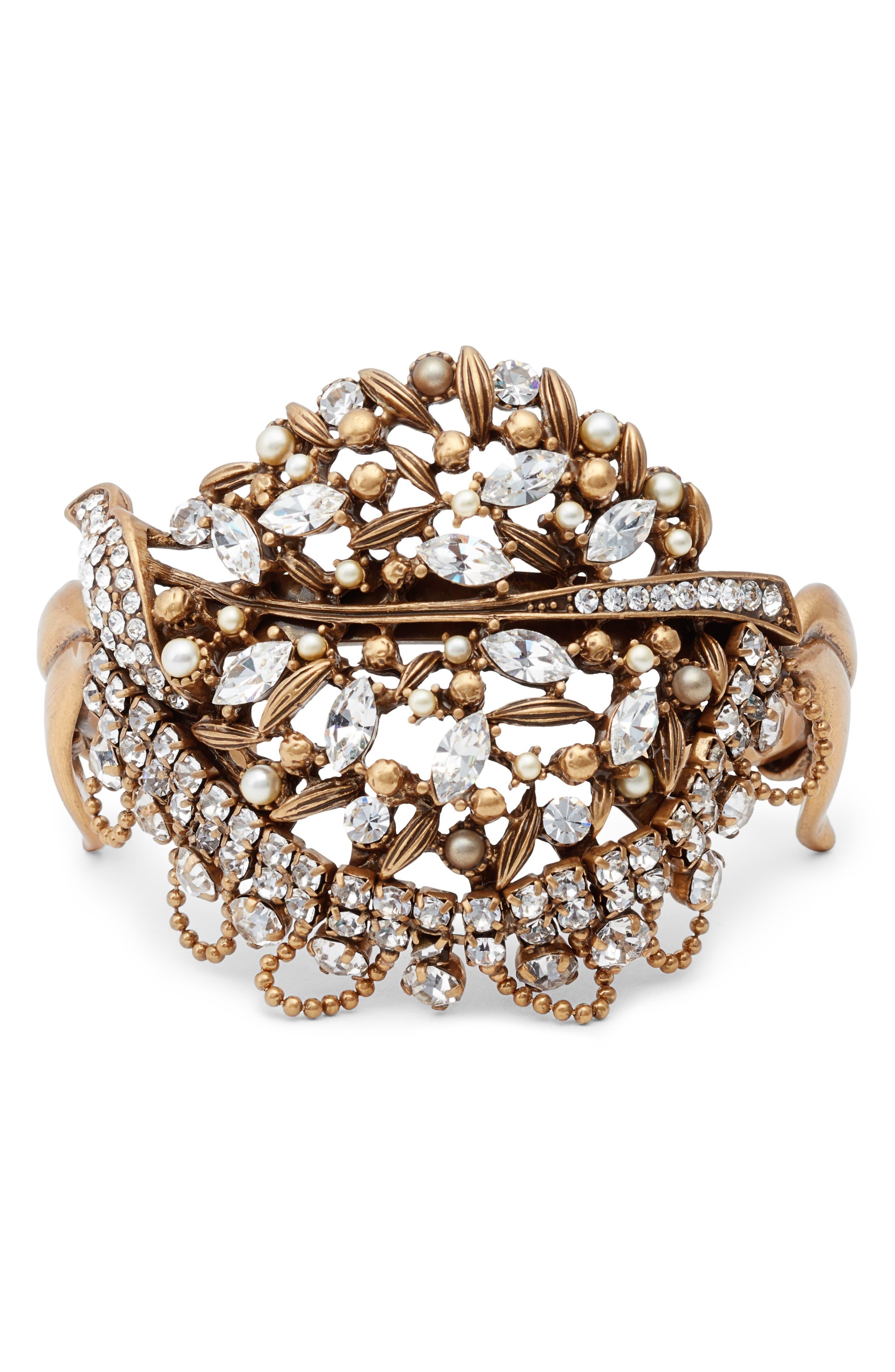 Crystal Bracelet,                         Main,                         color, Gold