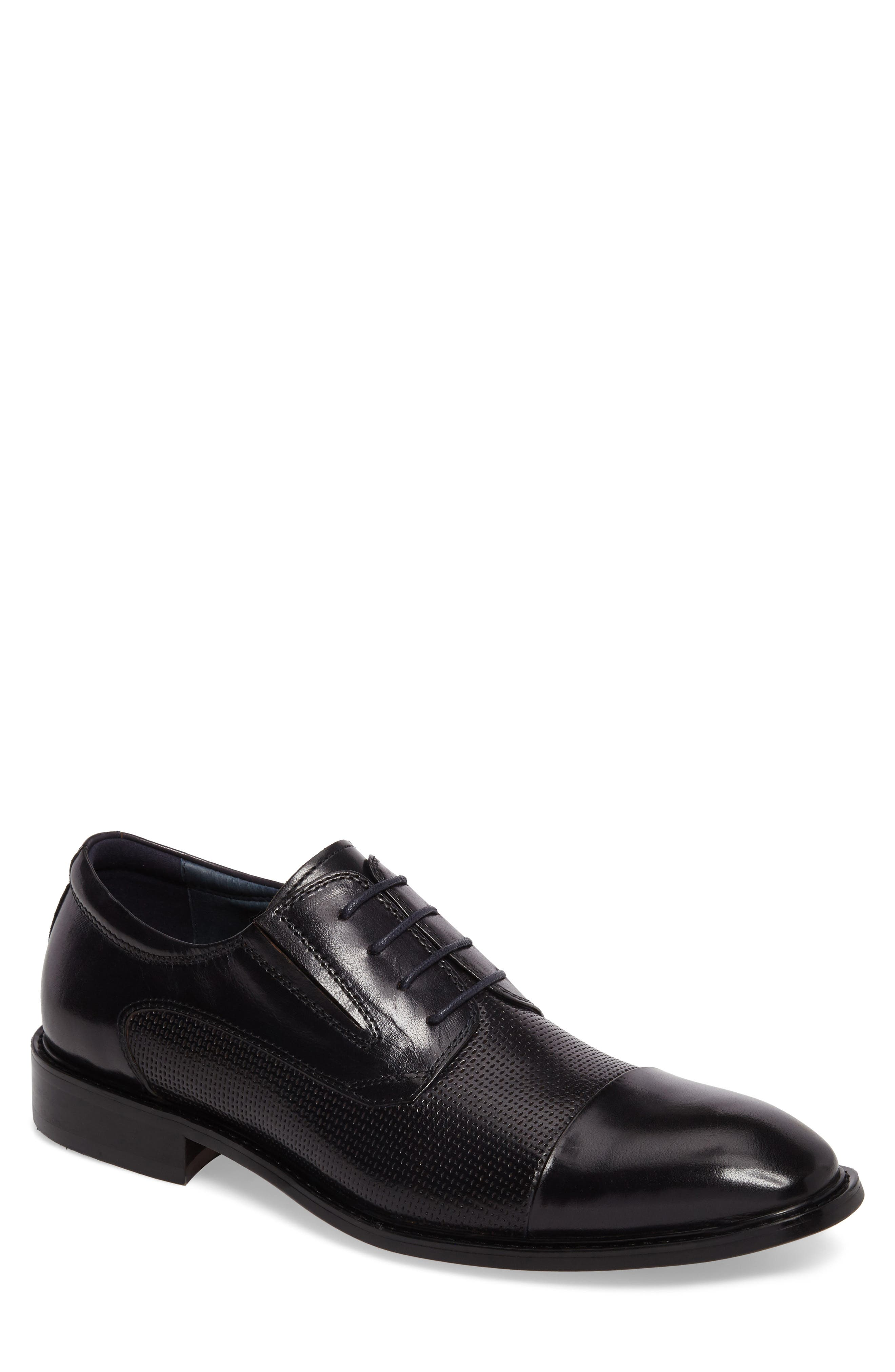 Dayes Cap Toe Derby,                         Main,                         color, Navy Leather