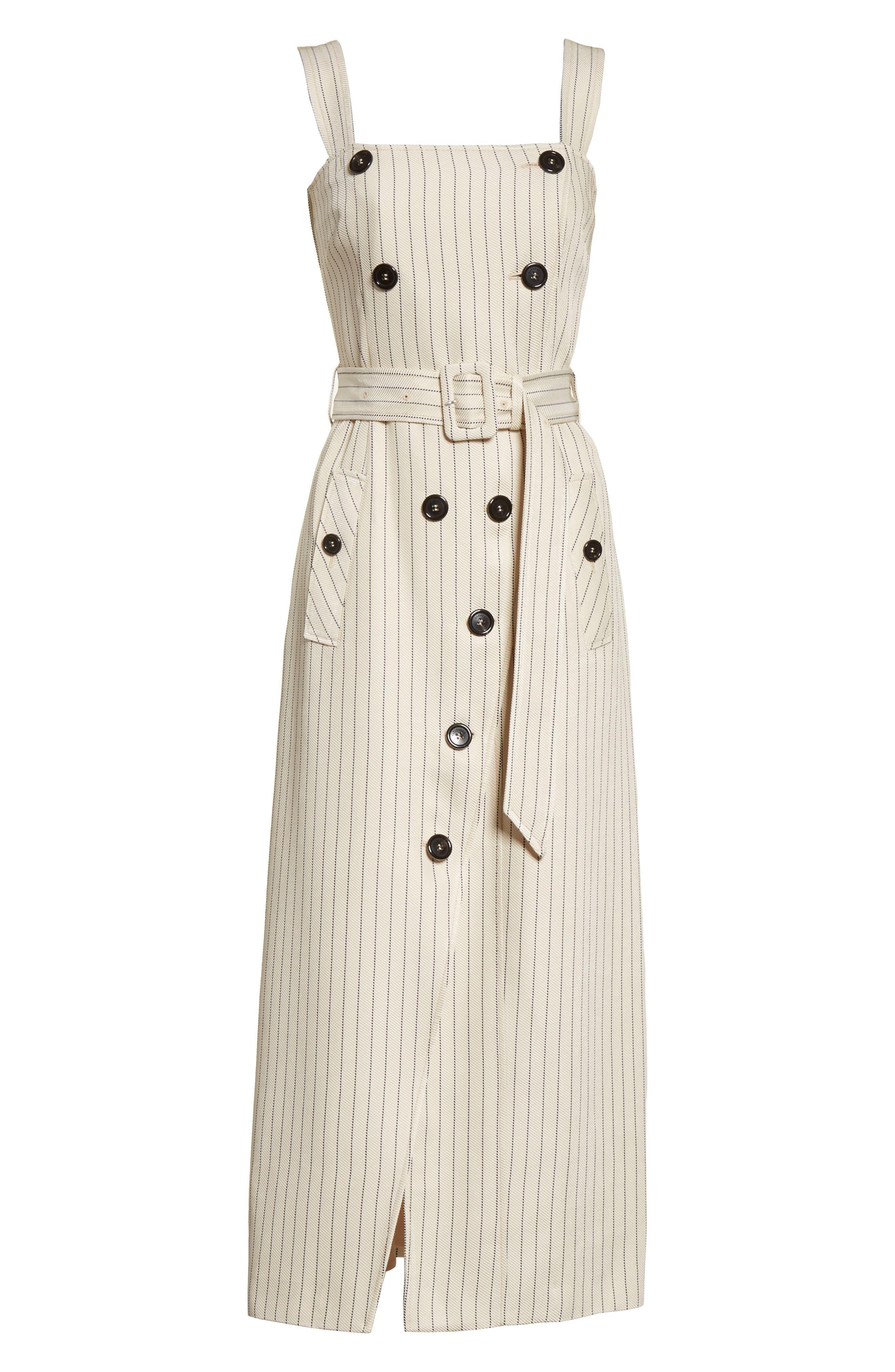 Alternate Image 7  - Altuzarra Audrey Button Detail Pinstripe Dress