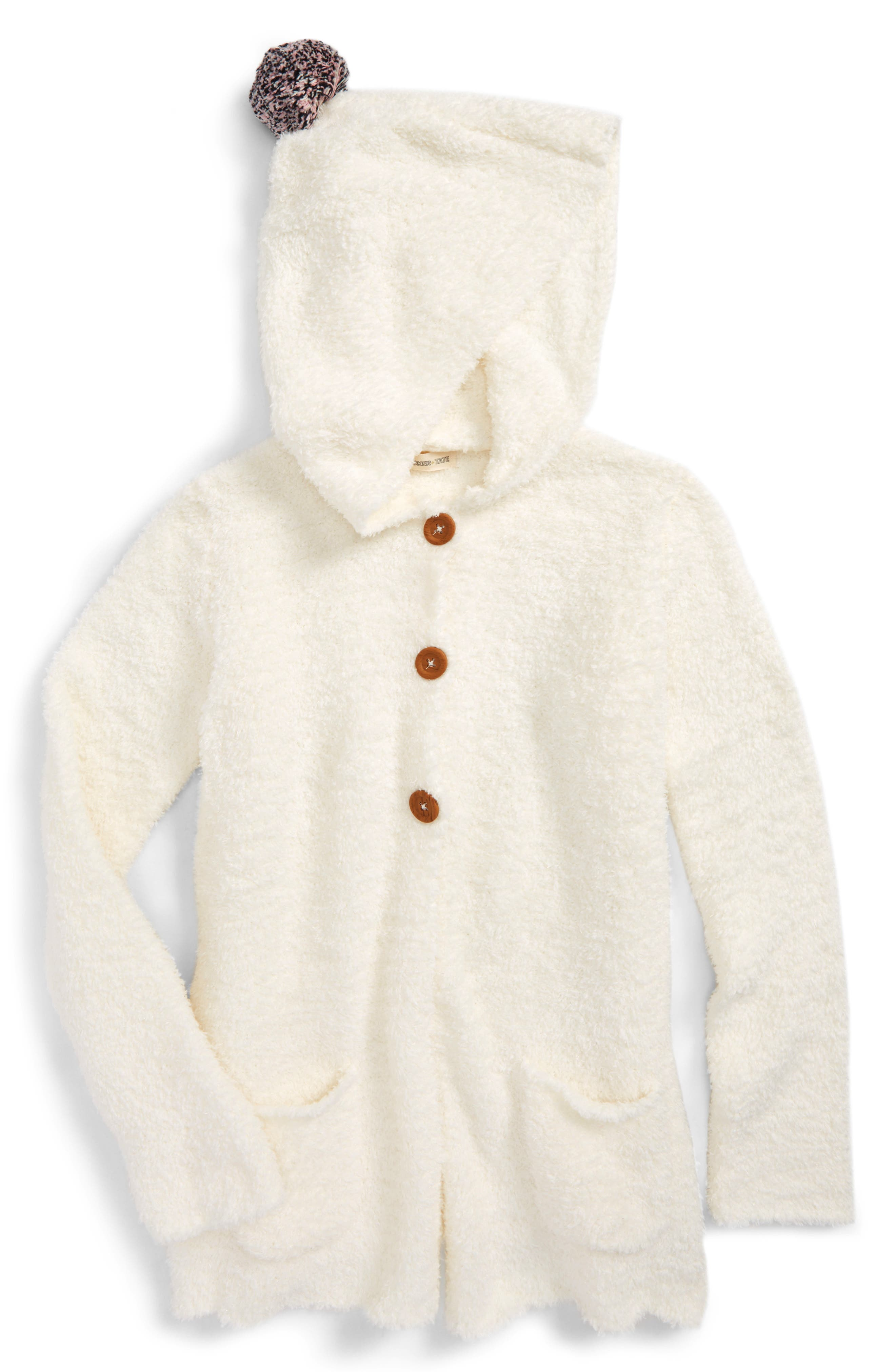 Alternate Image 1 Selected - Tucker + Tate Cozy Hooded Cardigan (Toddler Girls, Little Girls & Big Girls)