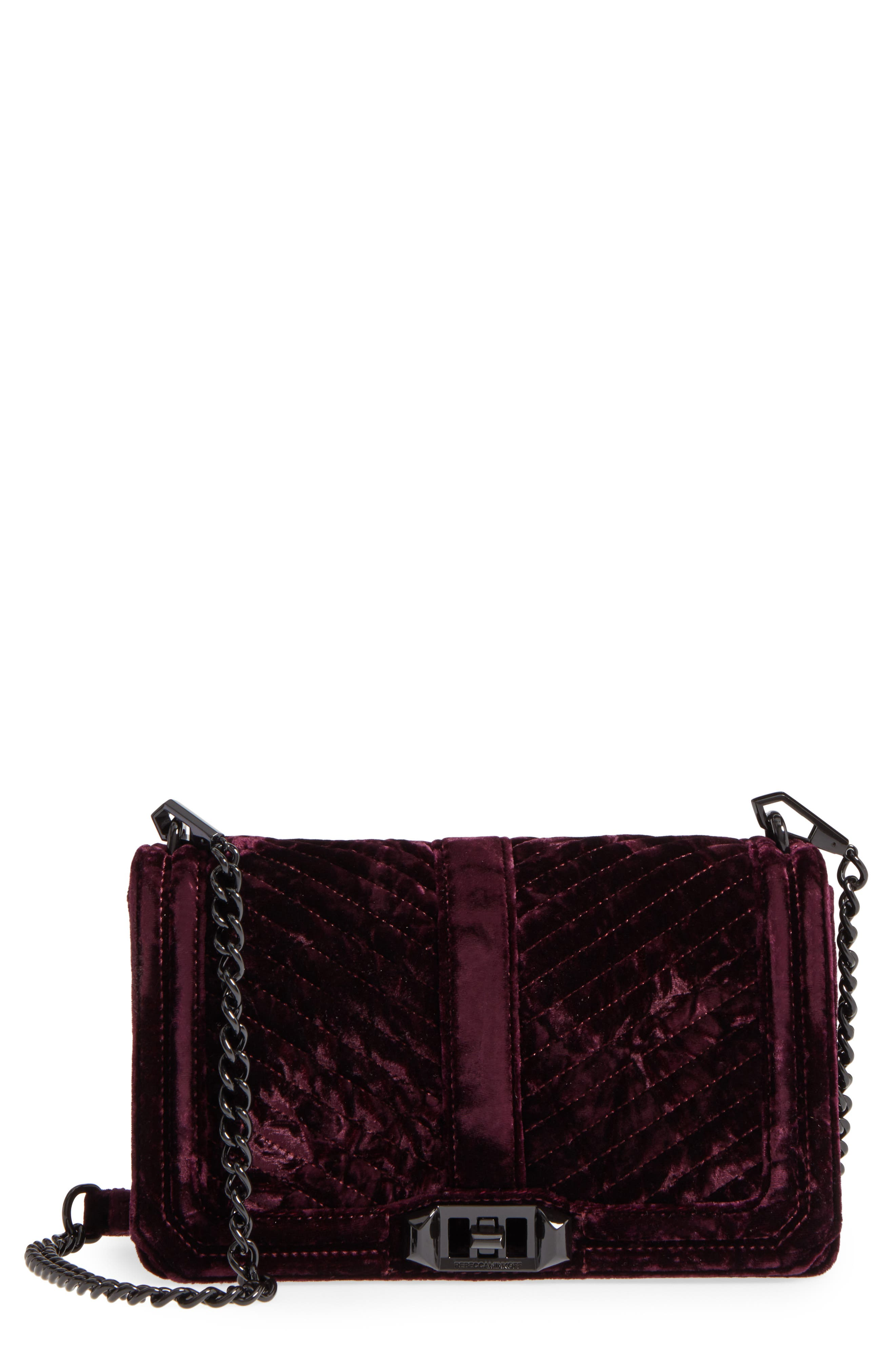 Rebecca Minkoff Love Velvet Quilted Crossbody Bag