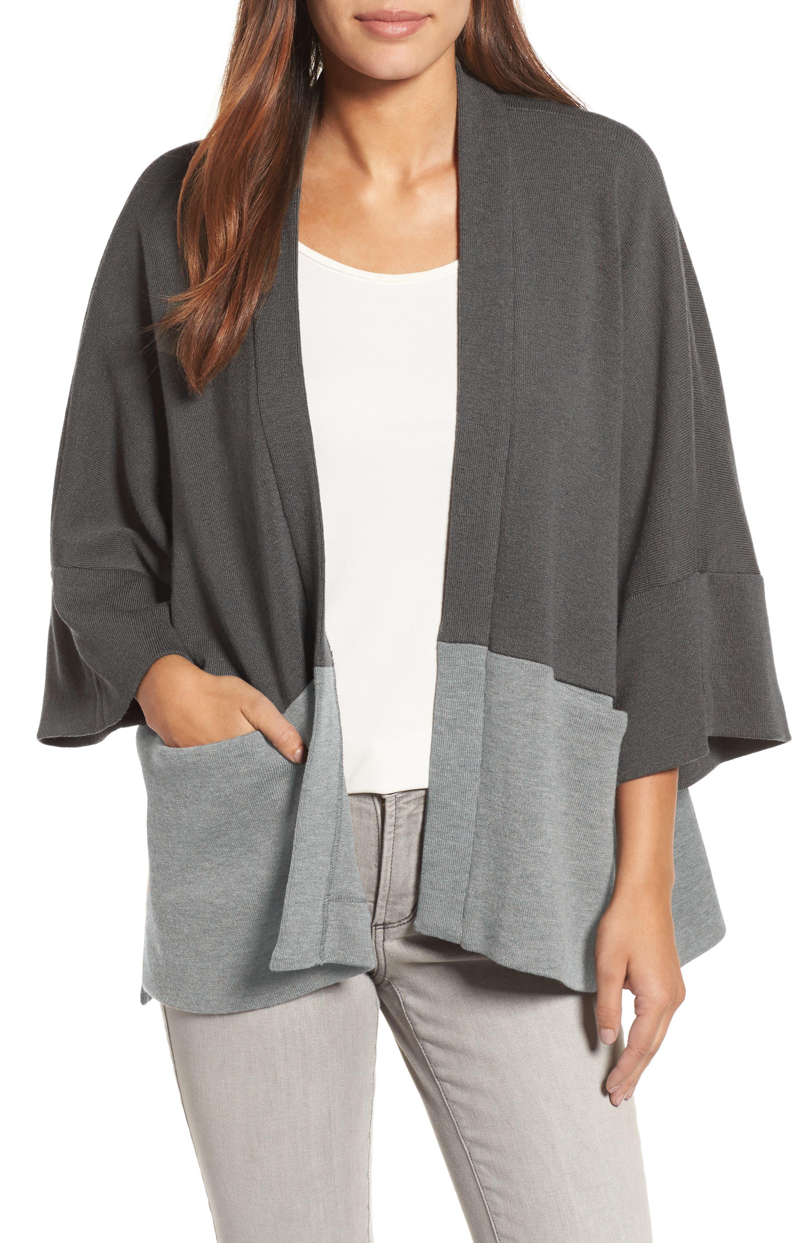 Eileen Fisher Wool Kimono Cardigan (Nordstrom Exclusive)